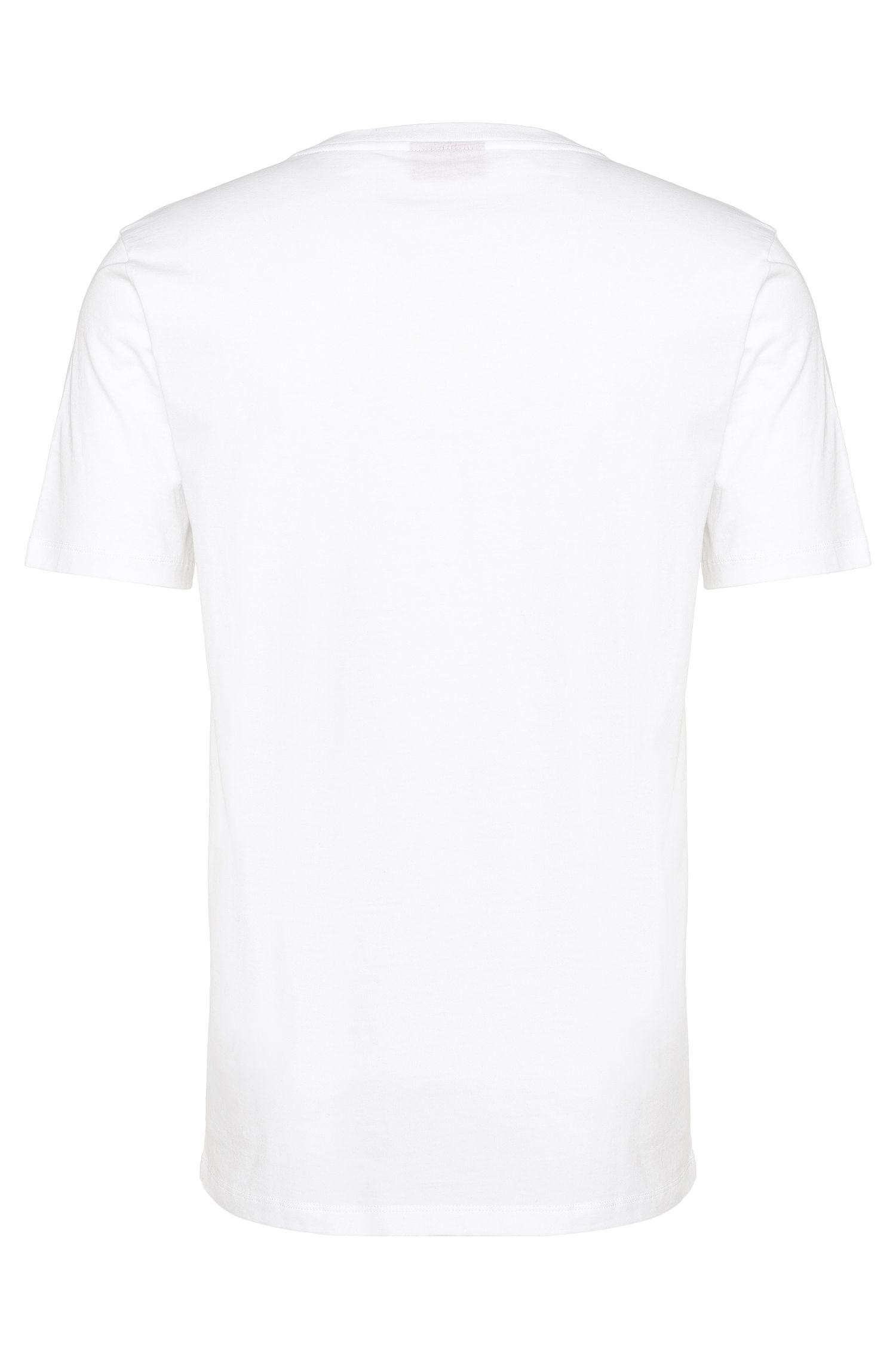 Loose-fit T-shirt van katoen met frontprint: 'Danorama'