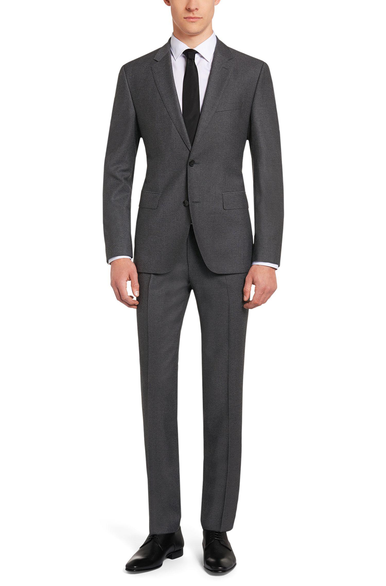 Regular-Fit Anzug aus strukturierter Schurwolle: 'Johnstons1/Lenon'