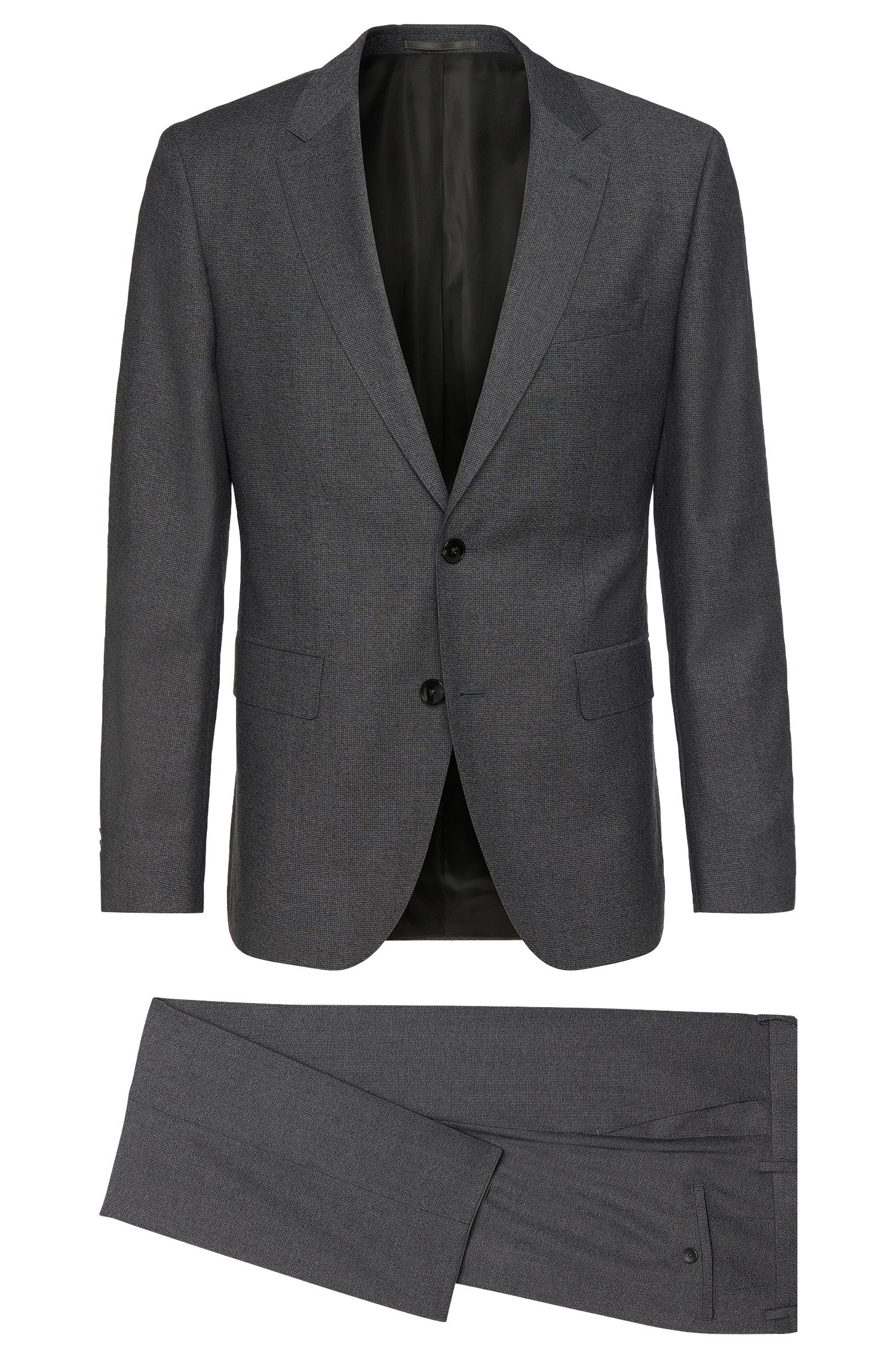 Regular-fit suit in textured new wool: 'Johnstons1/Lenon'