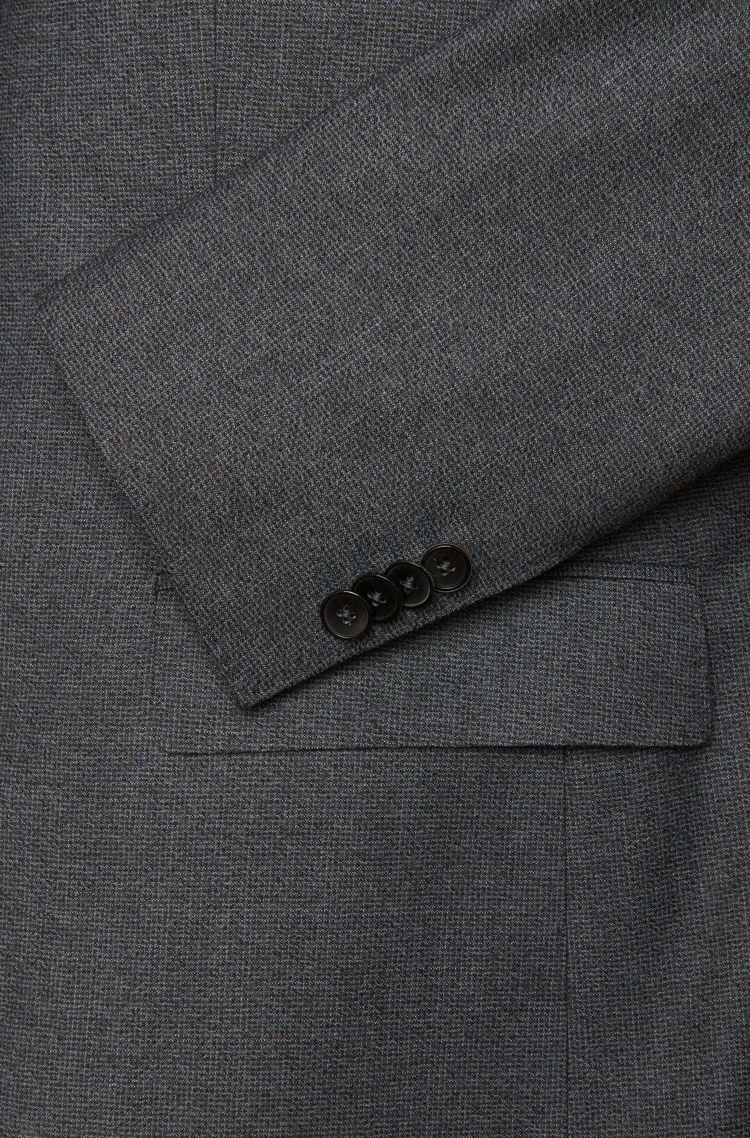 Regular-fit kostuum van gestructureerde scheerwol: 'Johnstons1/Lenon'