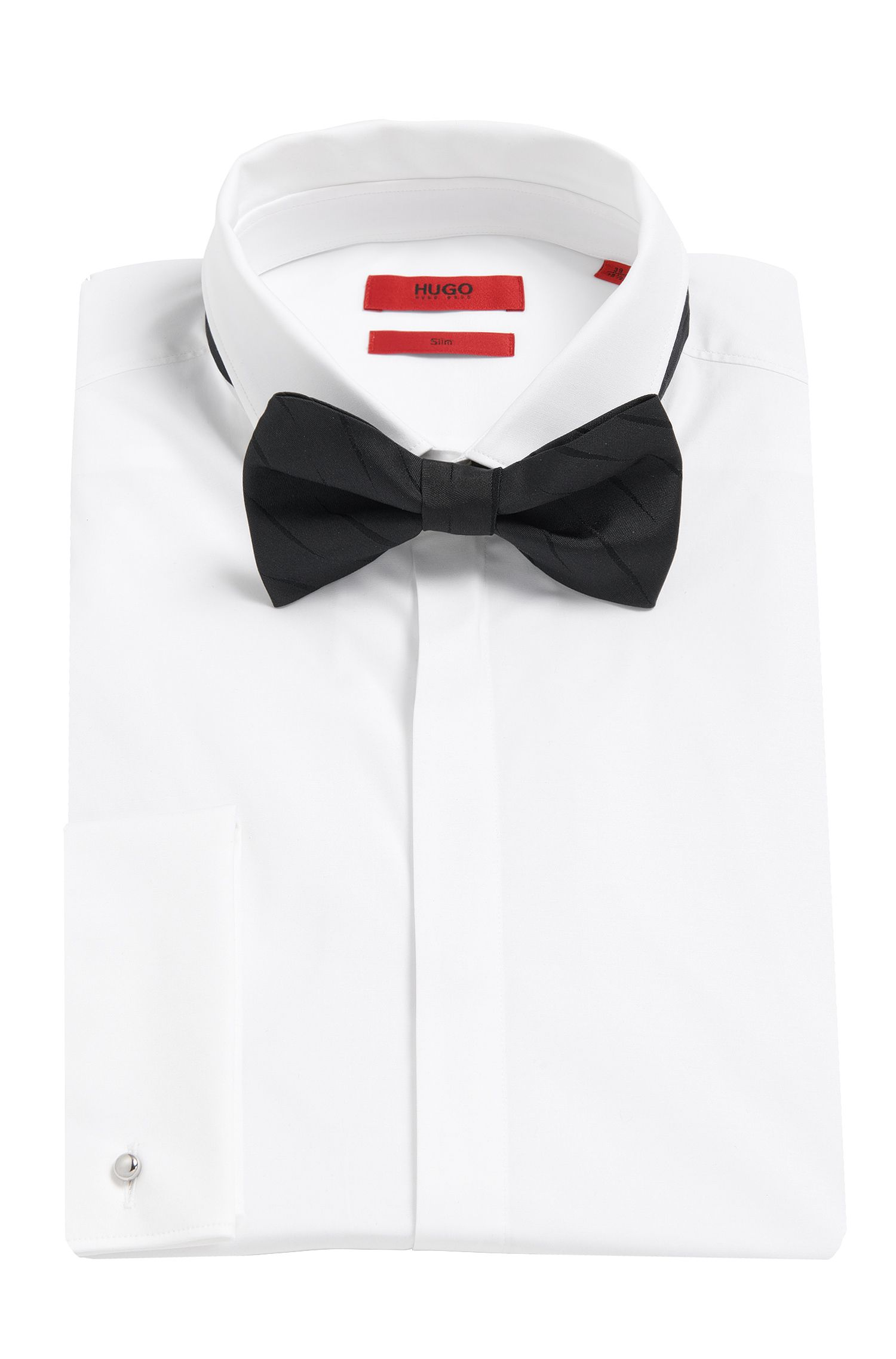 Bestikt vlinderdasje van zijde: 'Big bow tie'