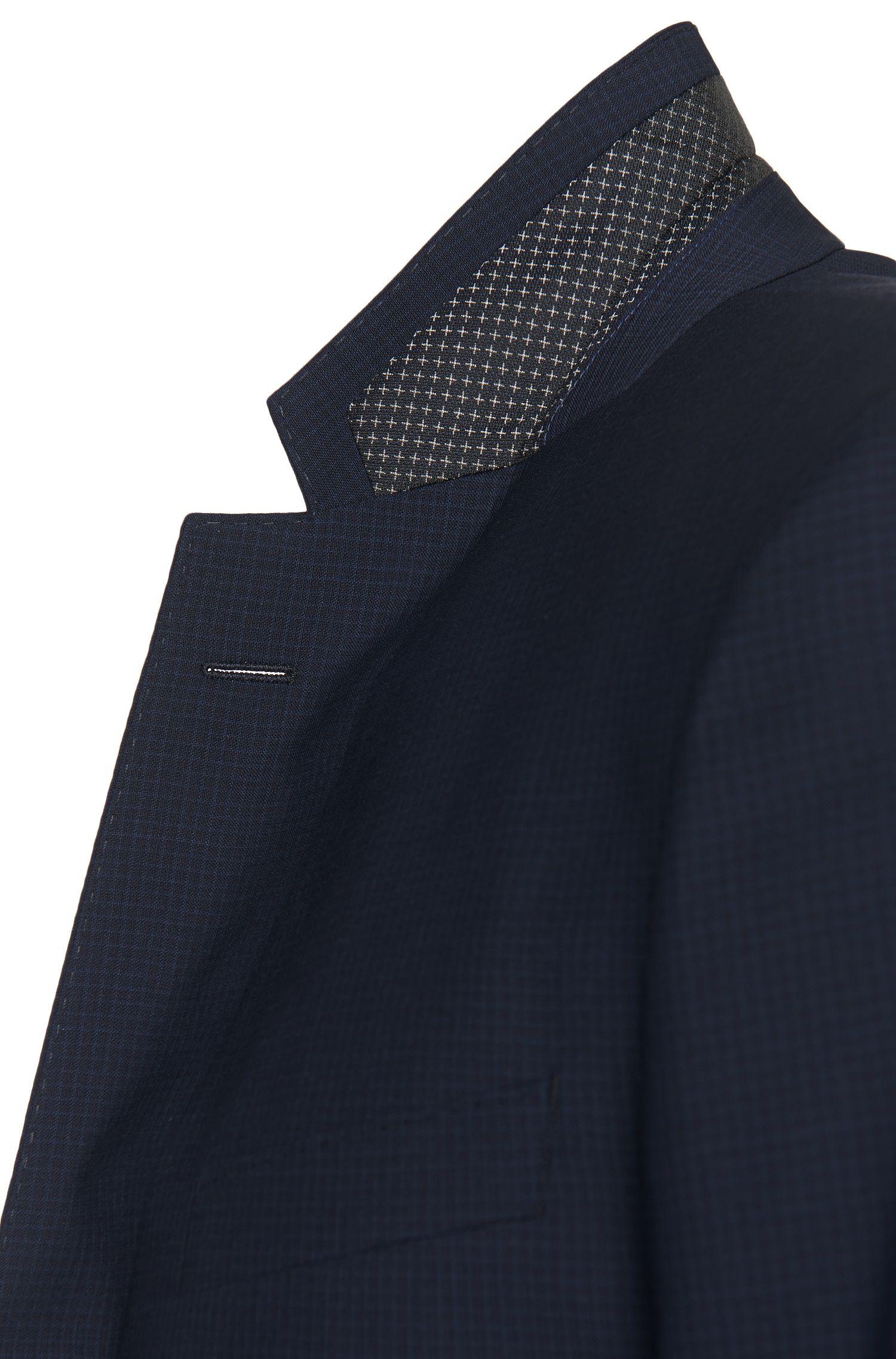 Karierter Slim-Fit Anzug aus Schurwolle mit Perlmutt-Knöpfen: 'Hutson3/Gander1'