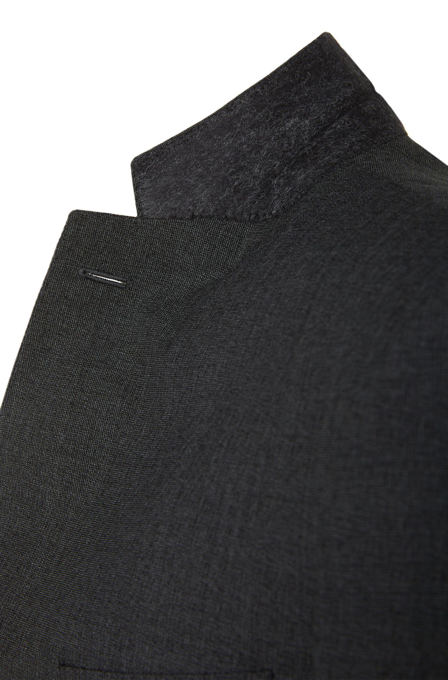 Costume Slim Fit en laine vierge mélangée, à motif finement hachuré: «Nova3/Ben»
