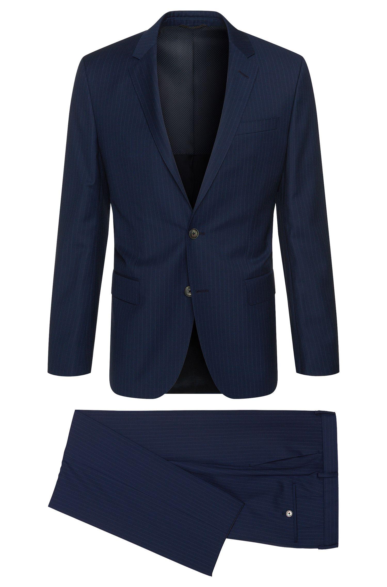 Fein gestreifter Slim-Fit Anzug aus Schurwolle: 'Hutson3/Gander1'
