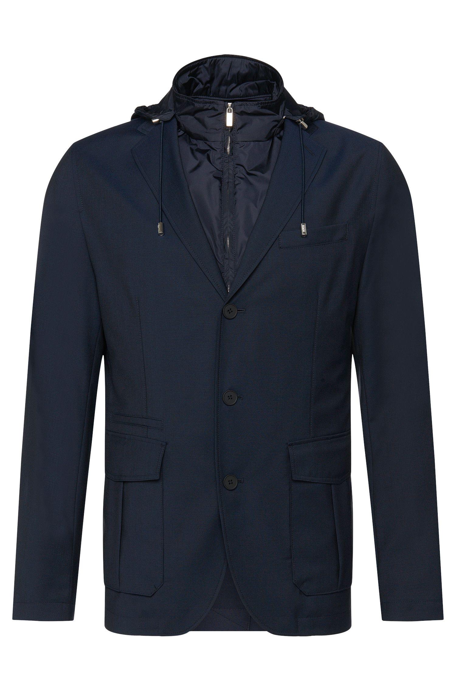Veste de costume Tailored en laine vierge avec doublure amovible: «T-Jorik»