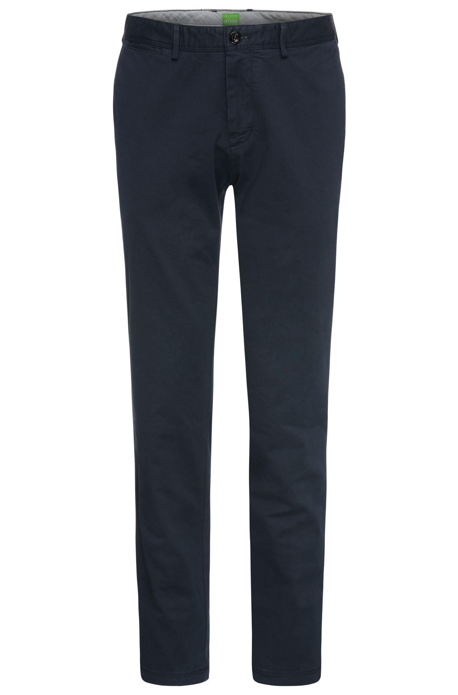Pantalon Regular Fit en coton extensible: «C-Crigan2-4-D»