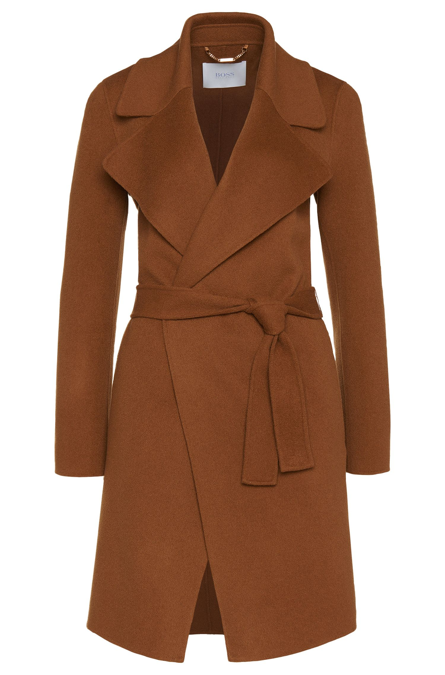 Coat in a wool blend with cashmere: 'Citana'