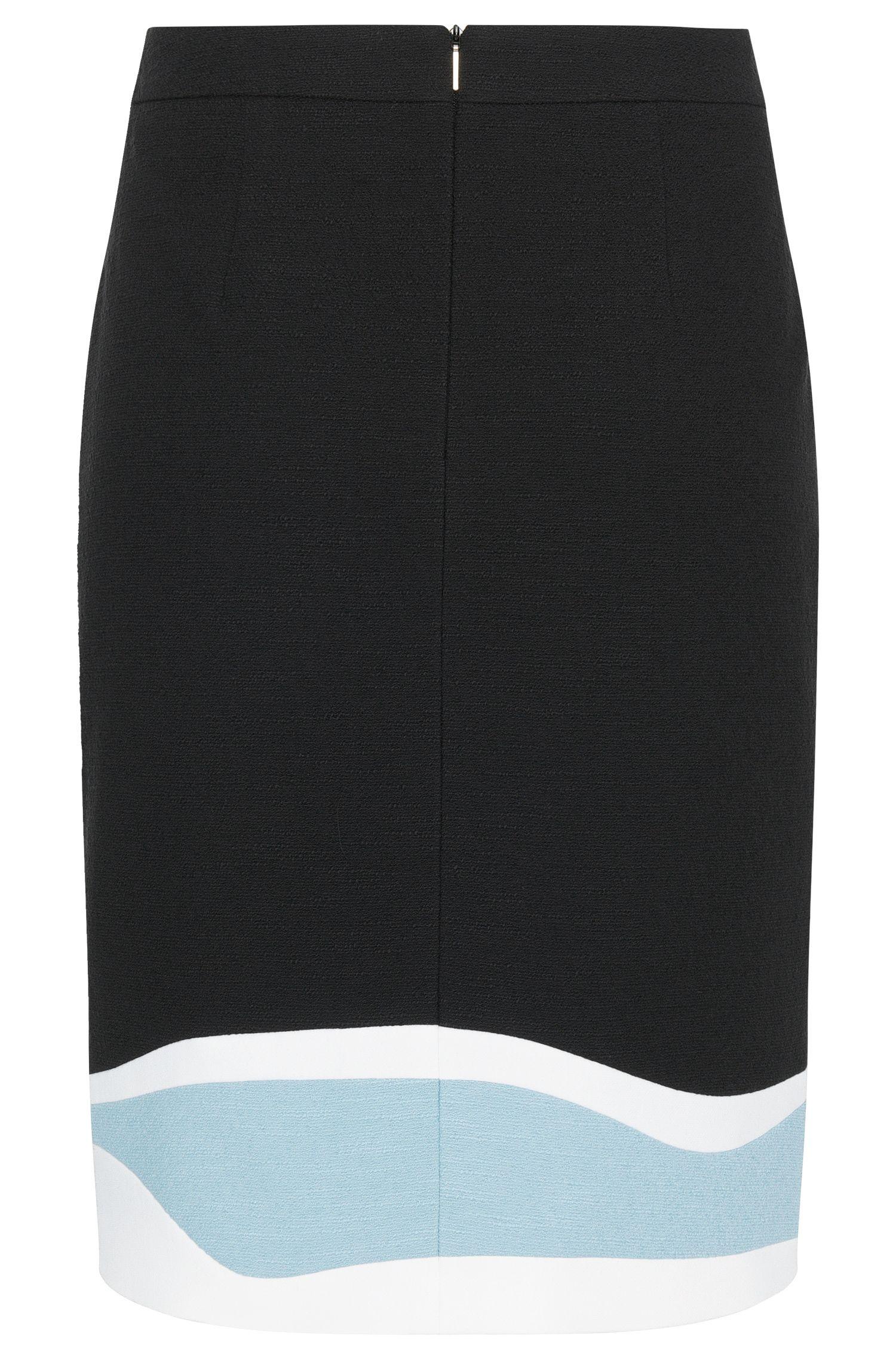 Rock aus Stretch-Baumwolle mit stromlinienförmigem Muster: 'Vidina'