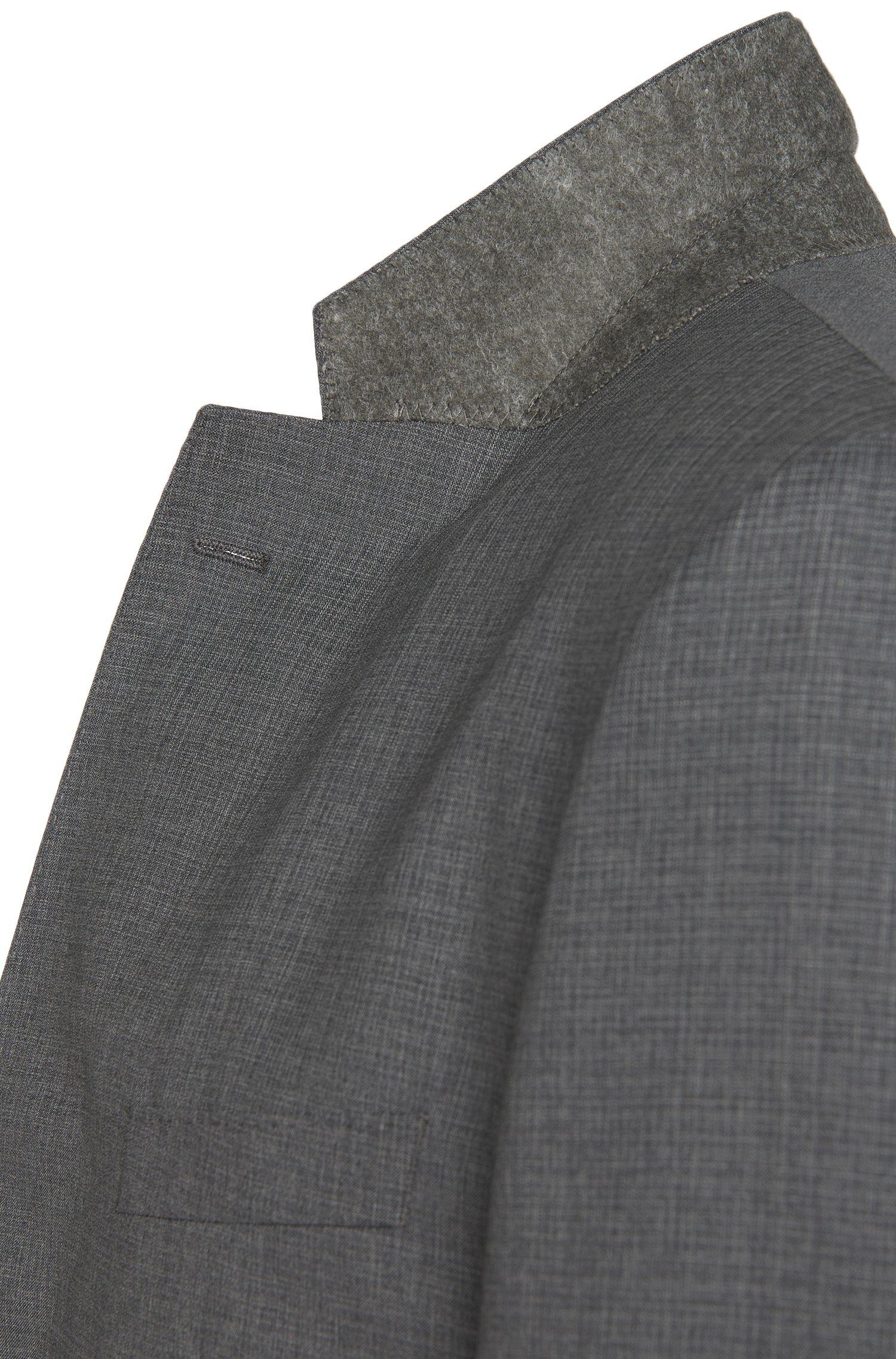 Costume Regular Fit à motif hachuré discret, confectionné en laine vierge: «Johnstons1/Lenon»