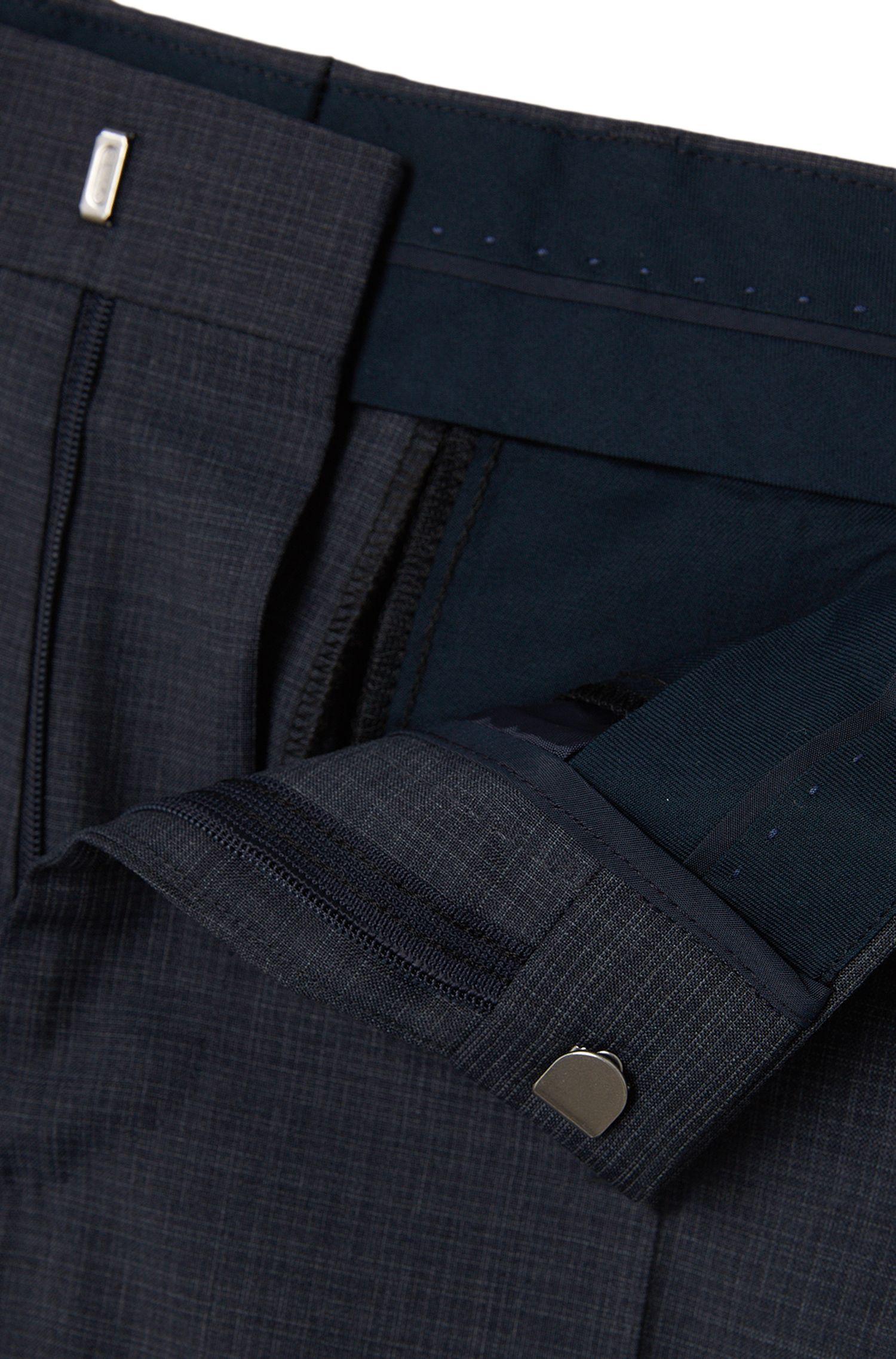 Costume Slim Fit en laine vierge mélangée, à motif finement hachuré: «Hevans/Gill WE»