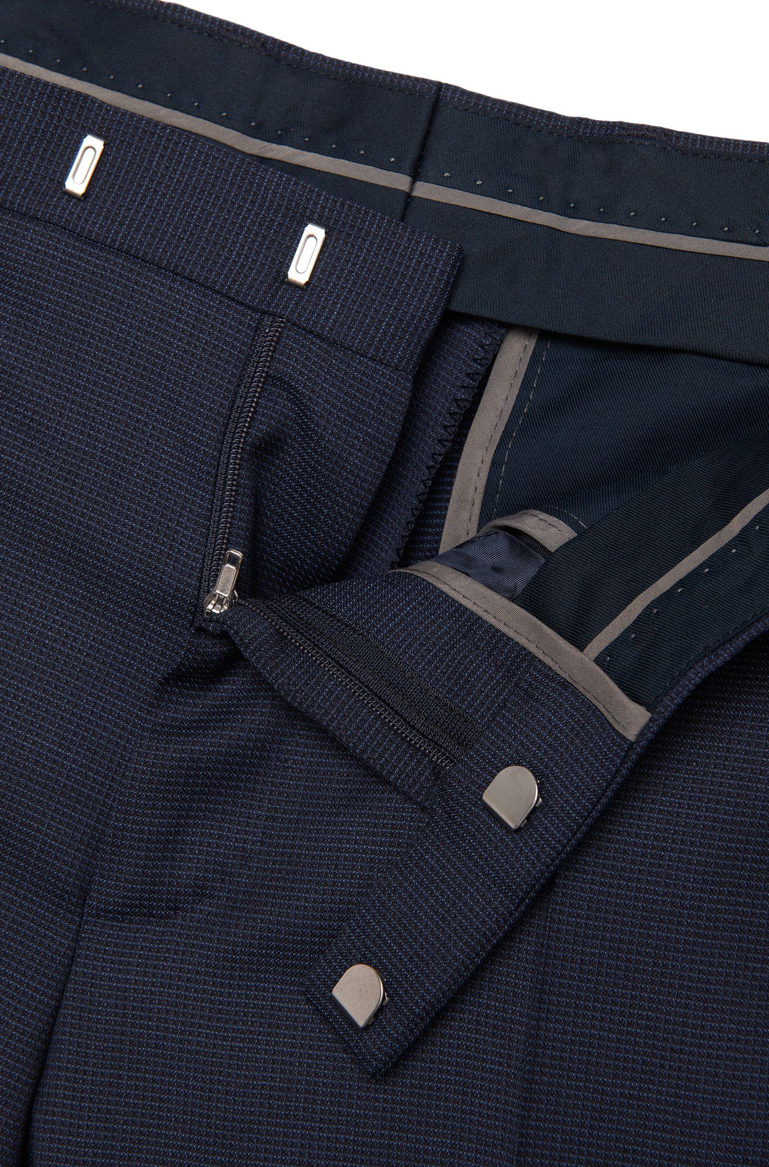 Costume Regular Fit en laine vierge à carreaux fins: «Johnstons1/Lenon»