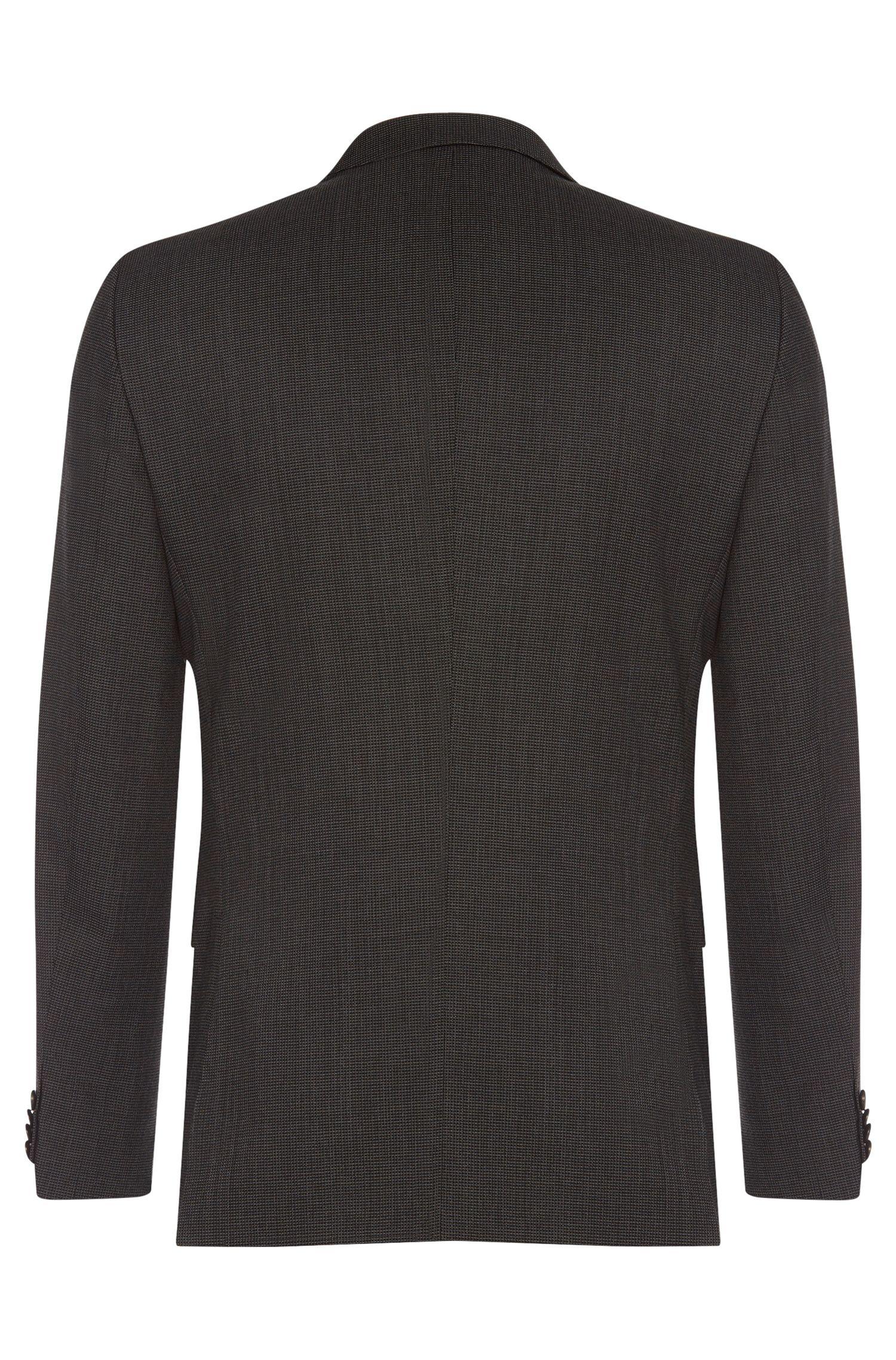 Fein gemusterter Slim-Fit Anzug aus reiner Schurwolle: 'Nova3/Ben'