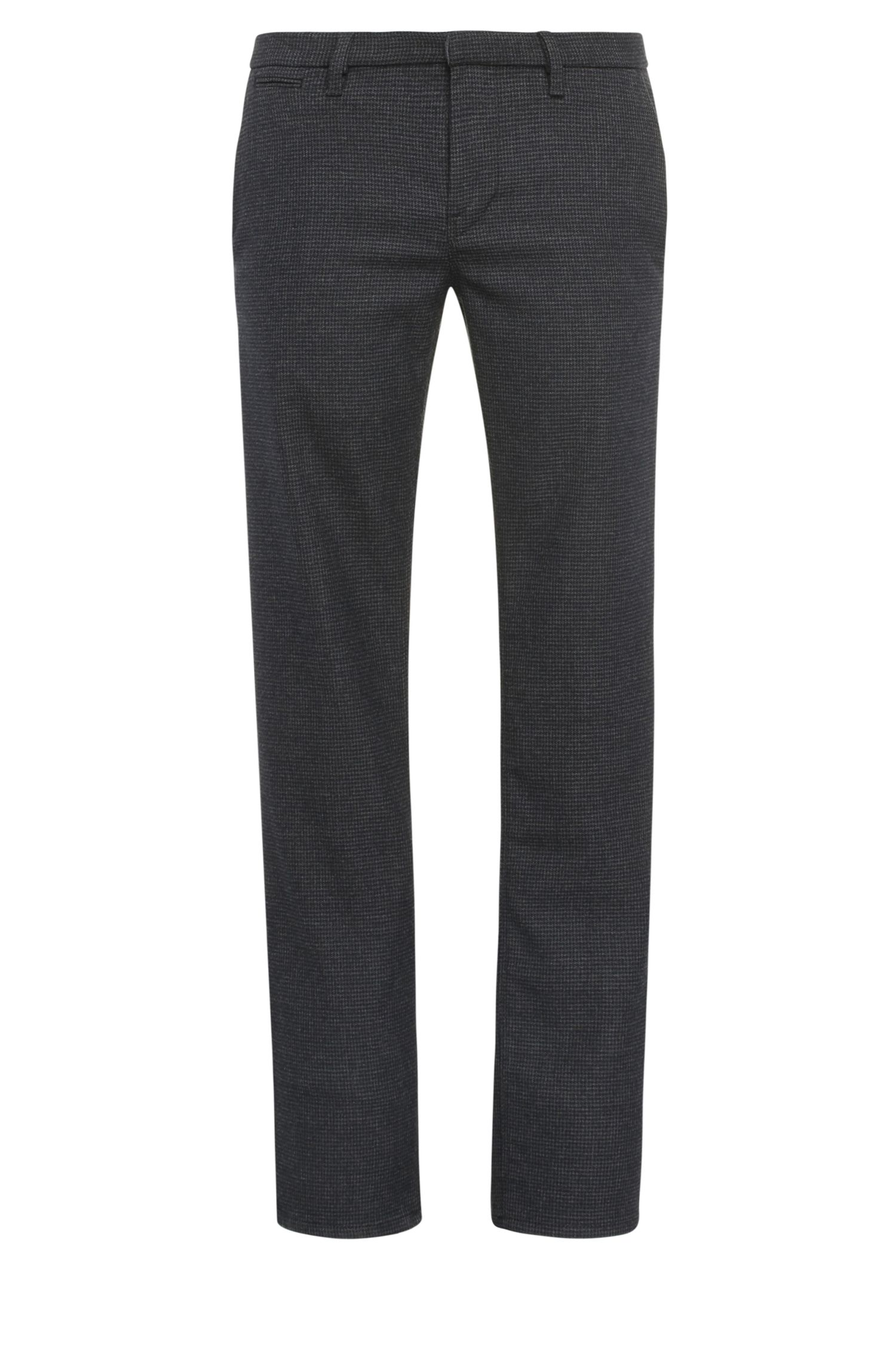 Slim-fit chinos in a stretchy fabric blend in houndstooth look: 'Slim3-W'