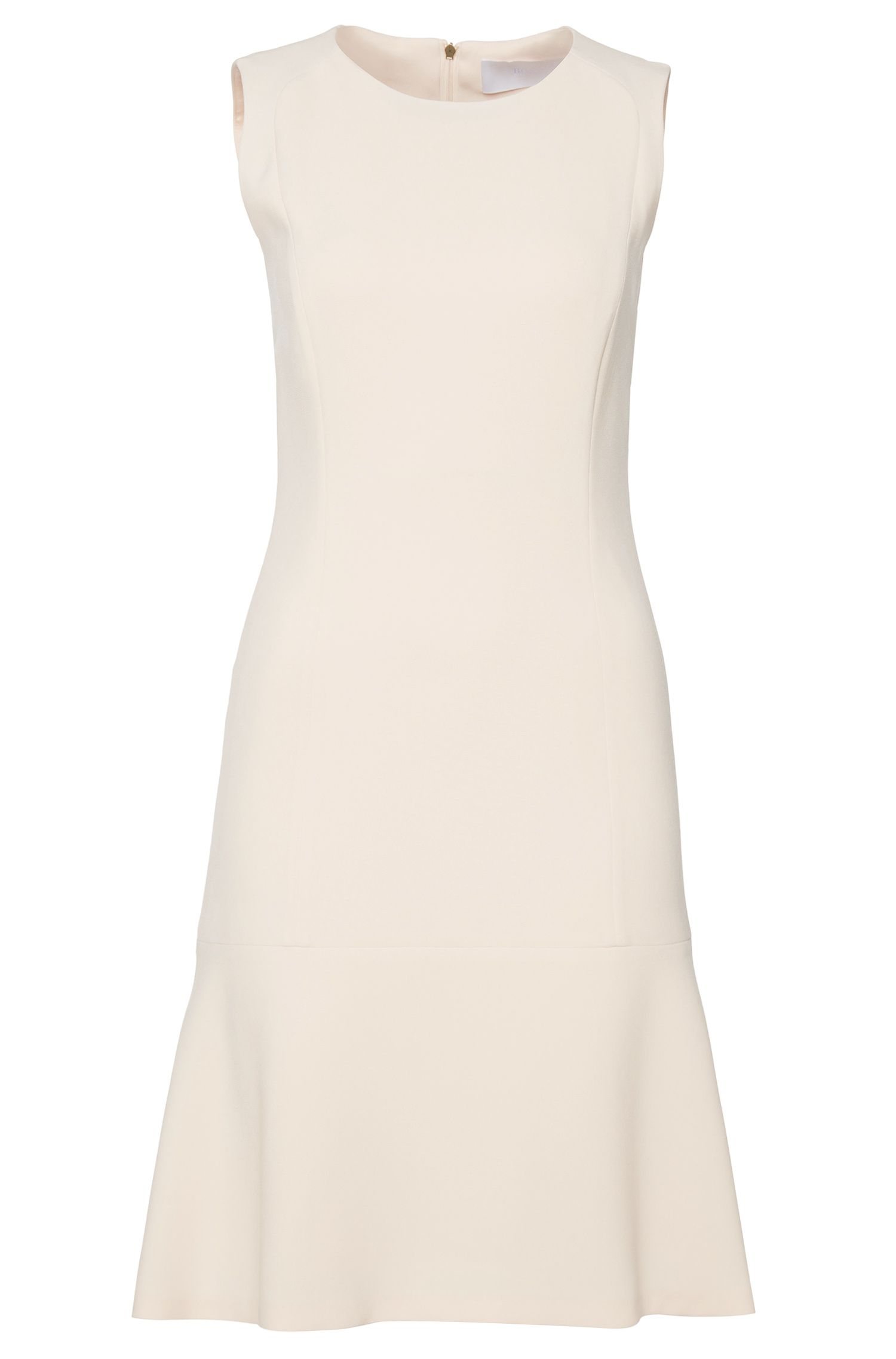 Mouwloze etui-jurk met uitlopende zoom: 'Dipelia2'