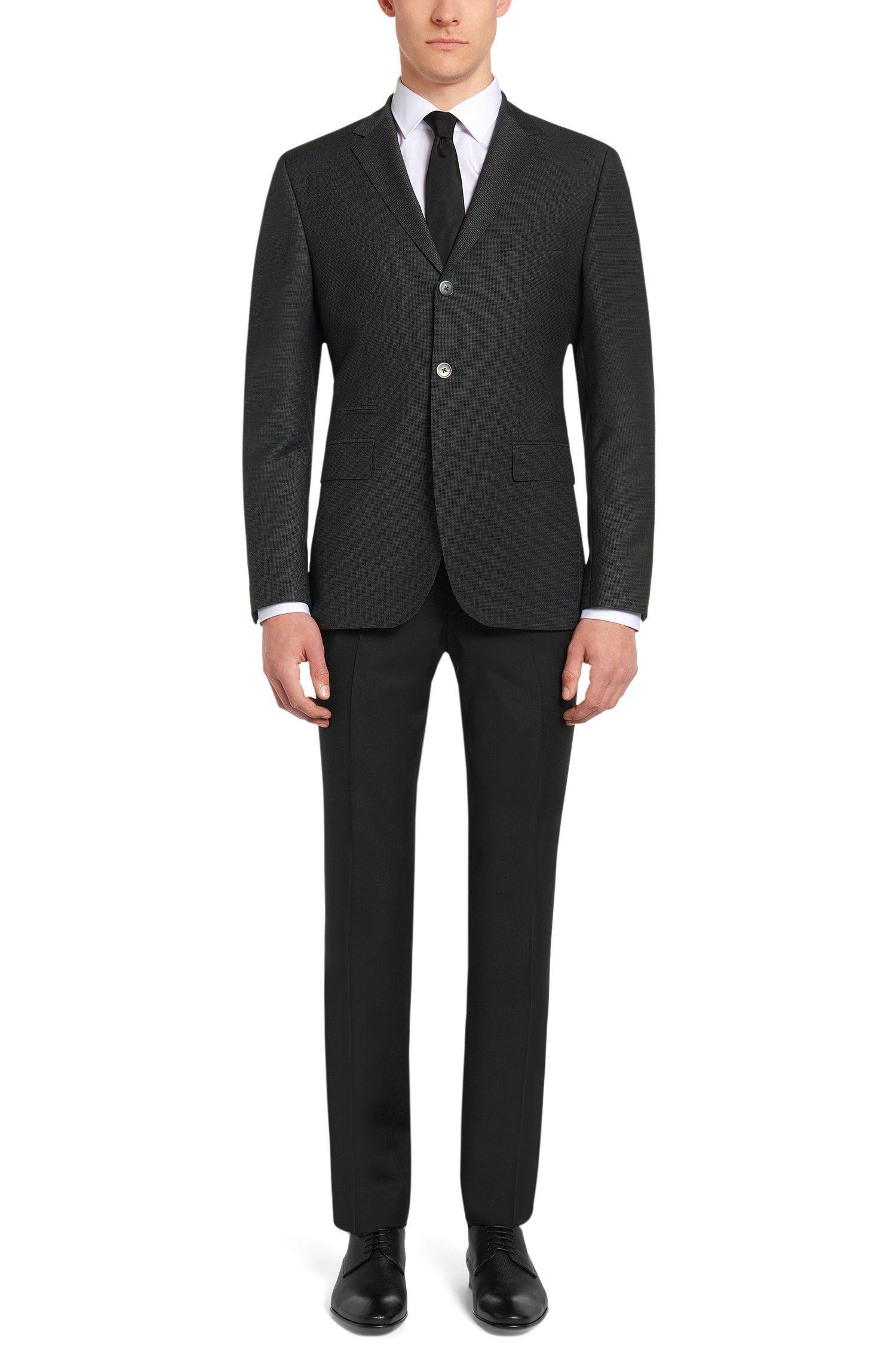 Pantalon Slim Fit en laine vierge mélangée, avec du cachemire: «Genesis2»