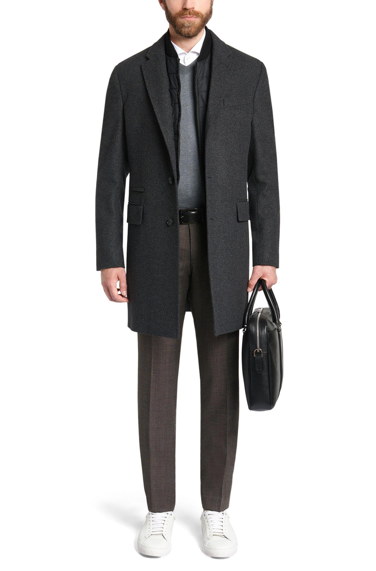 Pantalon extra Slim Fit en laine vierge mélangée: «Willard1»