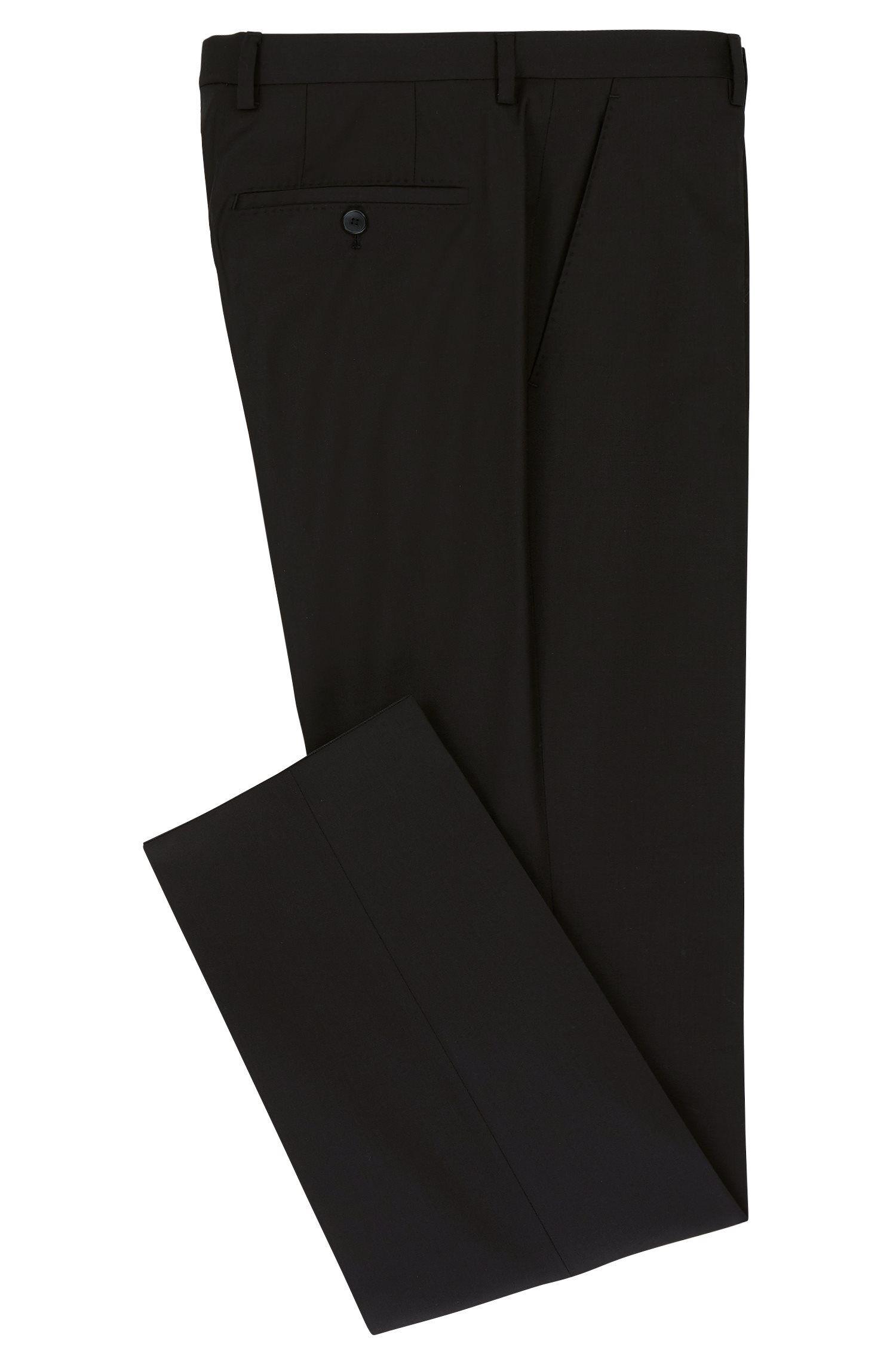 Pantalon Regular Fit uni en laine vierge: «Lenon_cyl»