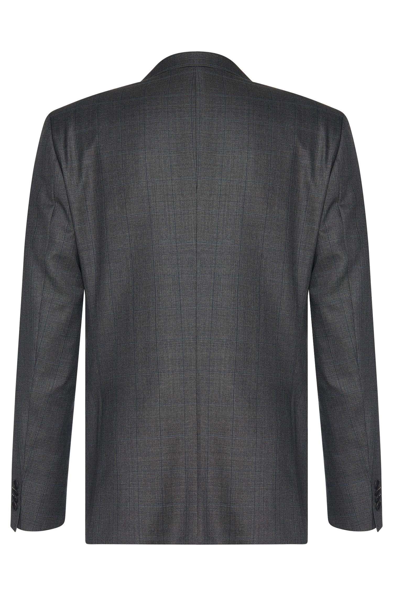 Karierter Slim-Fit Anzug aus reiner Schurwolle: 'Huge4/Genius3'