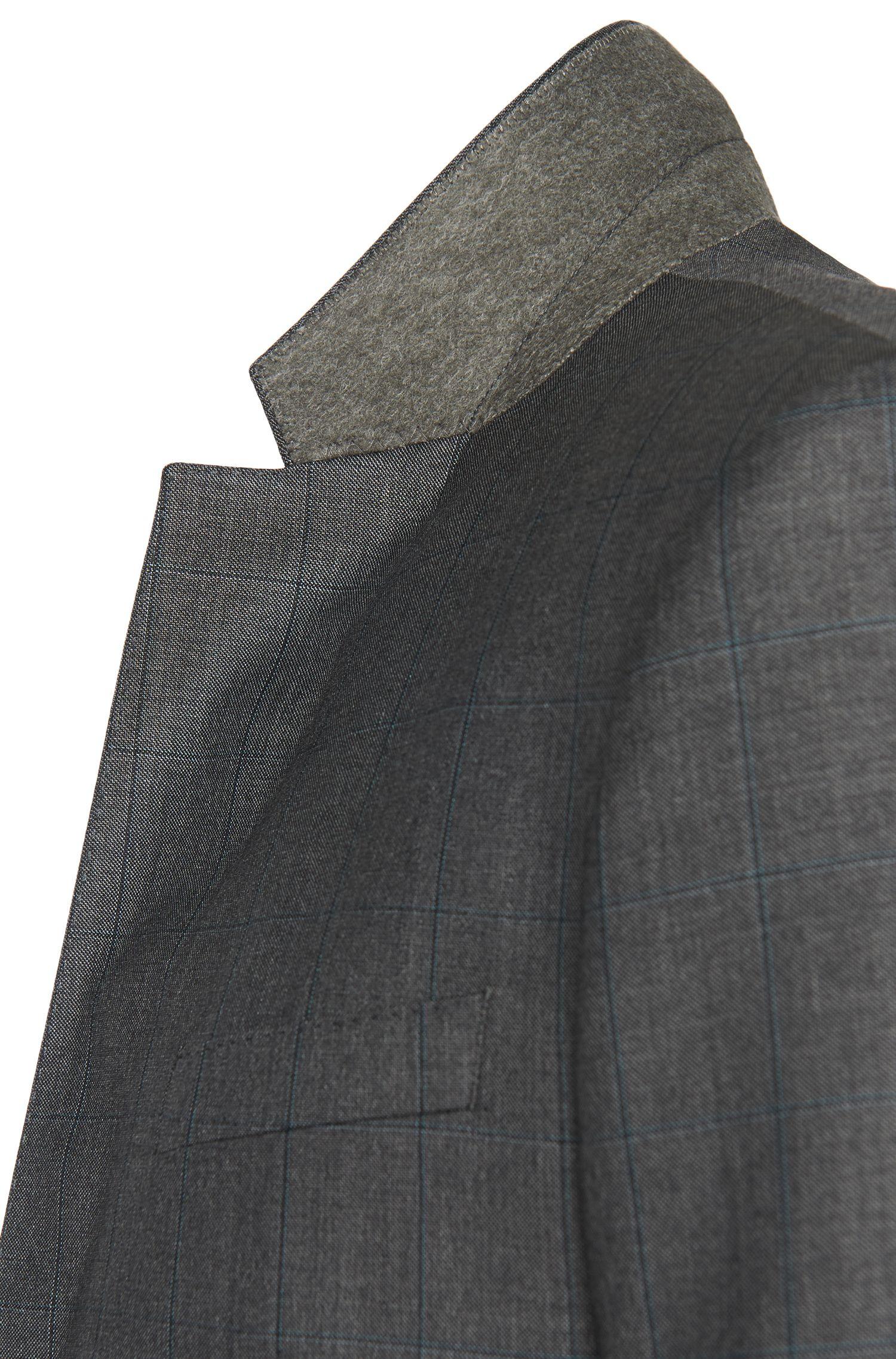 Geruit slim-fit kostuum van zuivere scheerwol: 'Huge4/Genius3'