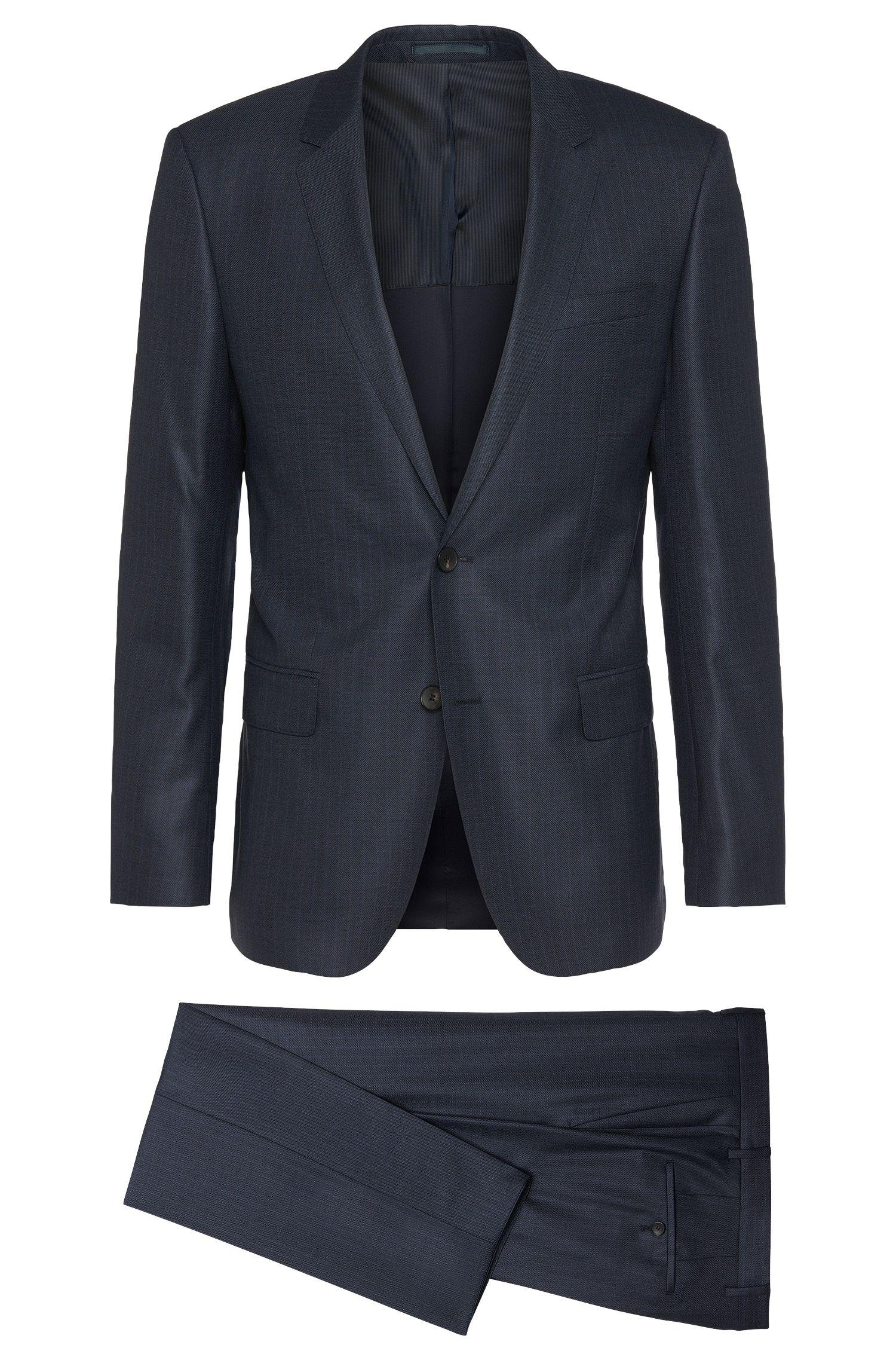 Slim-fit suit in new-wool blend with silk: 'Huge4/Genius3'