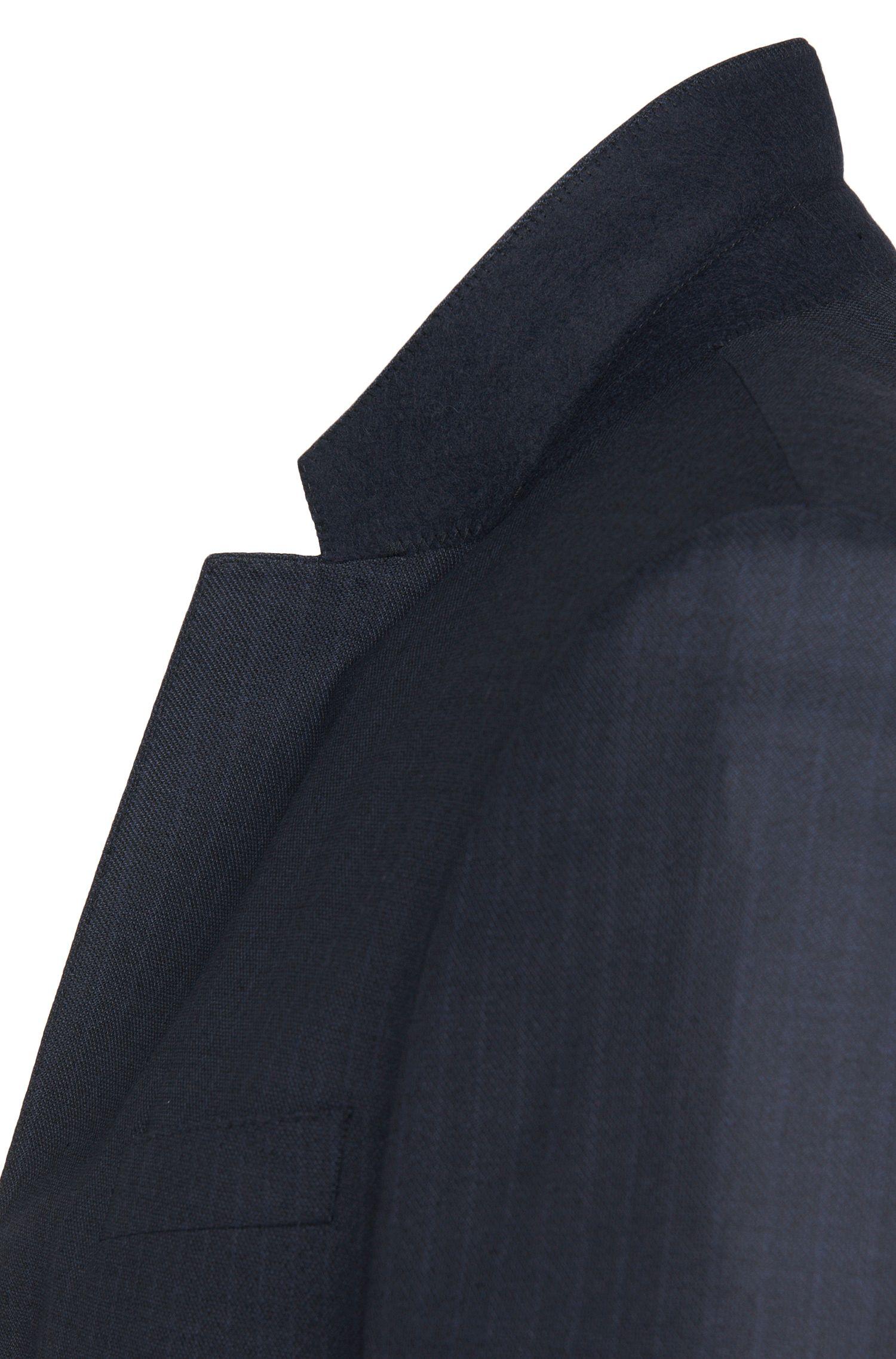 Slim-Fit Anzug aus Schurwoll-Mix mit Seide: 'Huge4/Genius3'