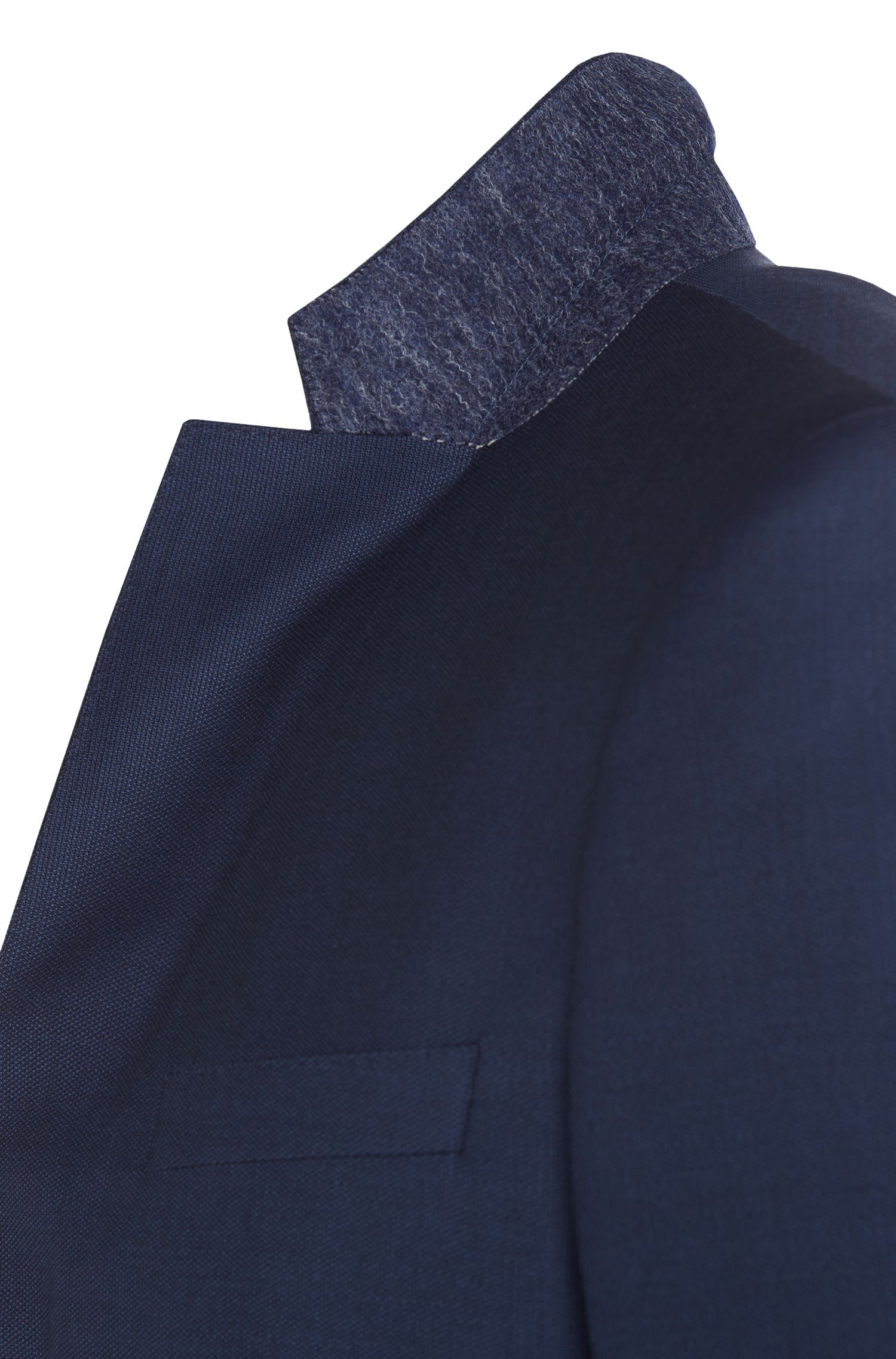 Slim-fit kostuum van fijngestructureerde scheerwol: 'Hevans/Gill WE'