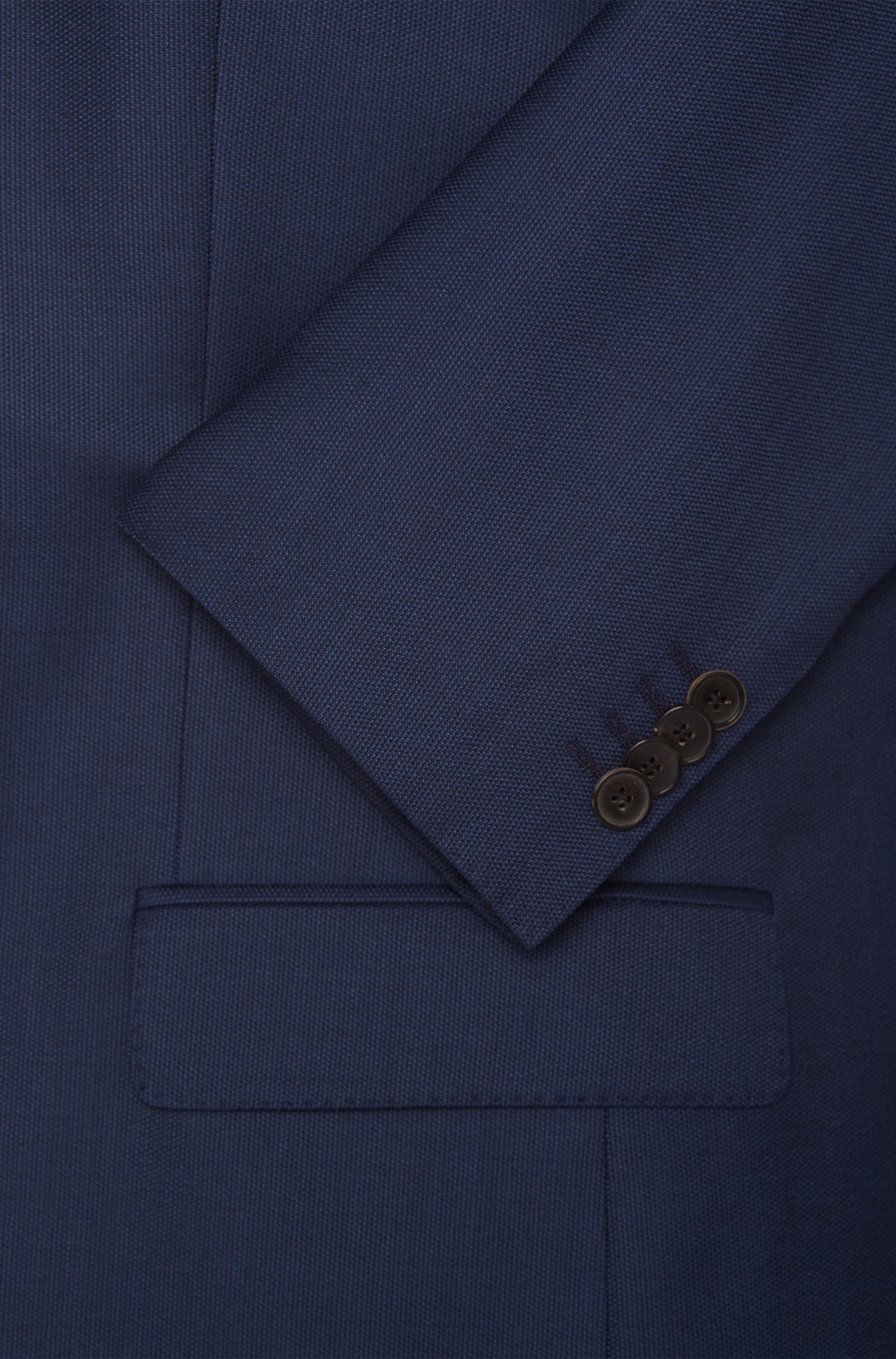 Costume Slim Fit en laine vierge finement structurée: «Hevans/Gill WE»