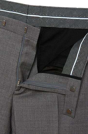 Fein gemusterte Regular-Fit Hose aus Schurwolle: 'Leenon', Grau