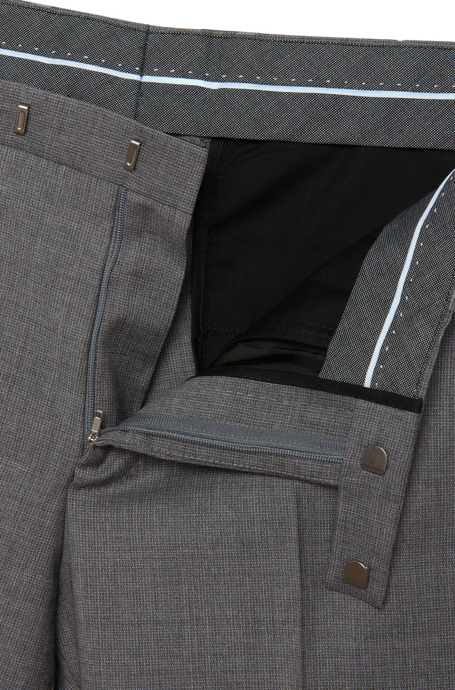 Fein gemusterte Regular-Fit Hose aus Schurwolle: 'Leenon'