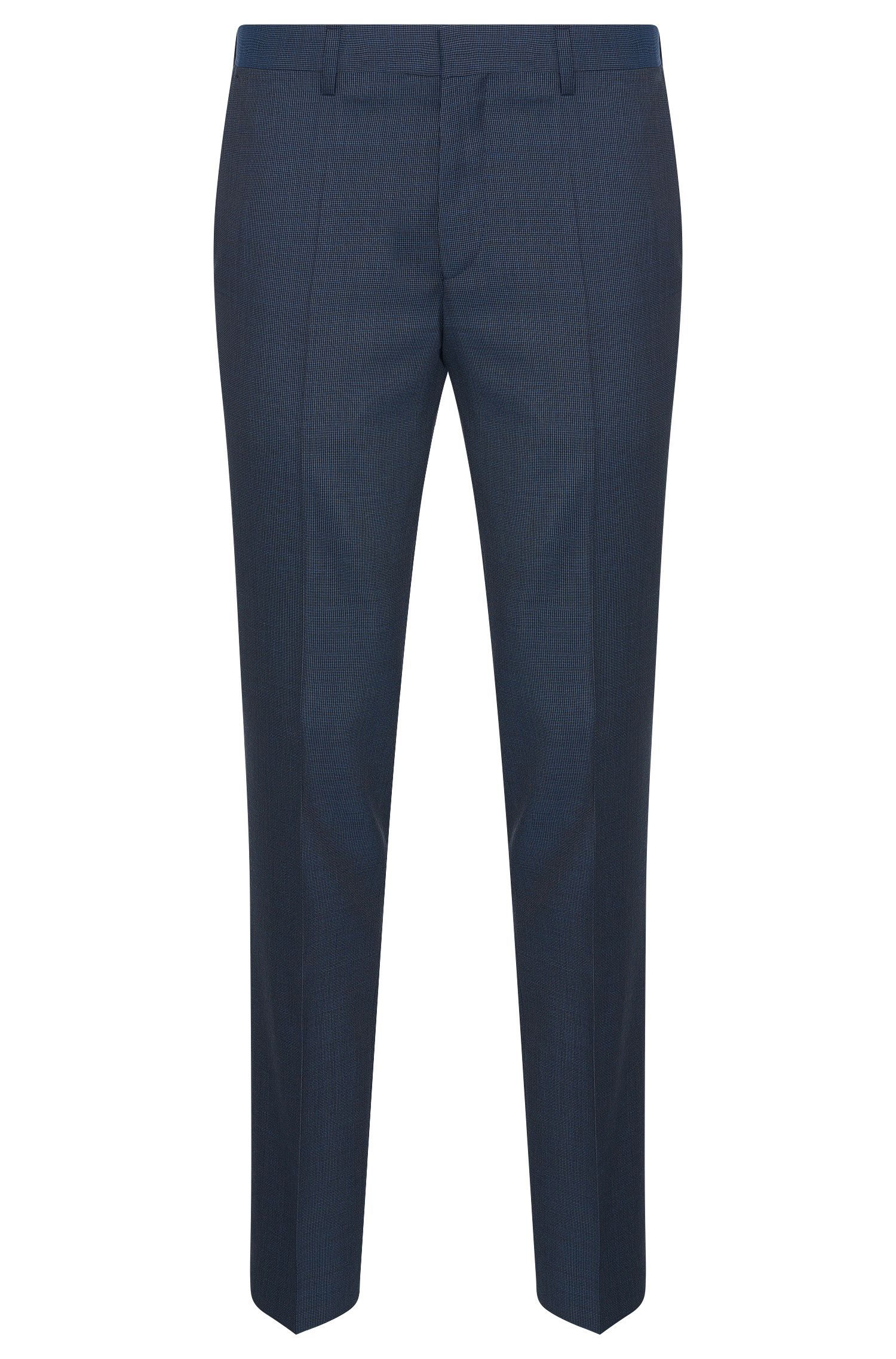 Finely patterned slim-fit trousers in new wool: 'Genesis2'