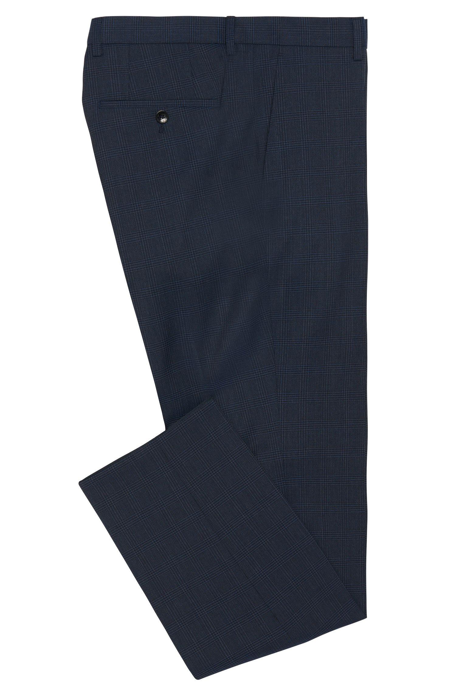Pantalon Slim Fit en laine vierge avec motif tartan: «Genesis2»