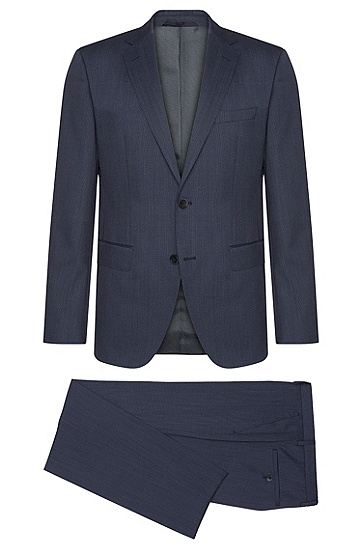 Regular-Fit Anzug aus reiner Schurwolle: 'Jewels/Linus', Blau