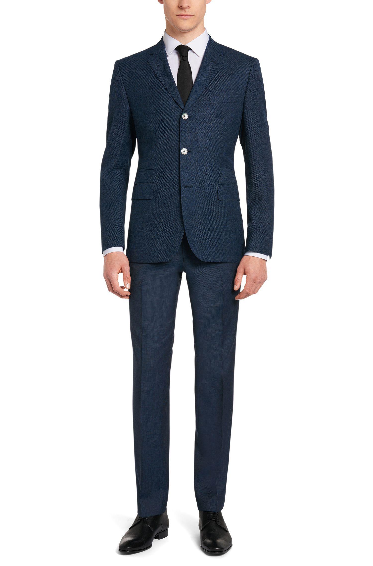 Veste de costume Regular Fit en laine vierge à boutons en nacre: «Johnston3»