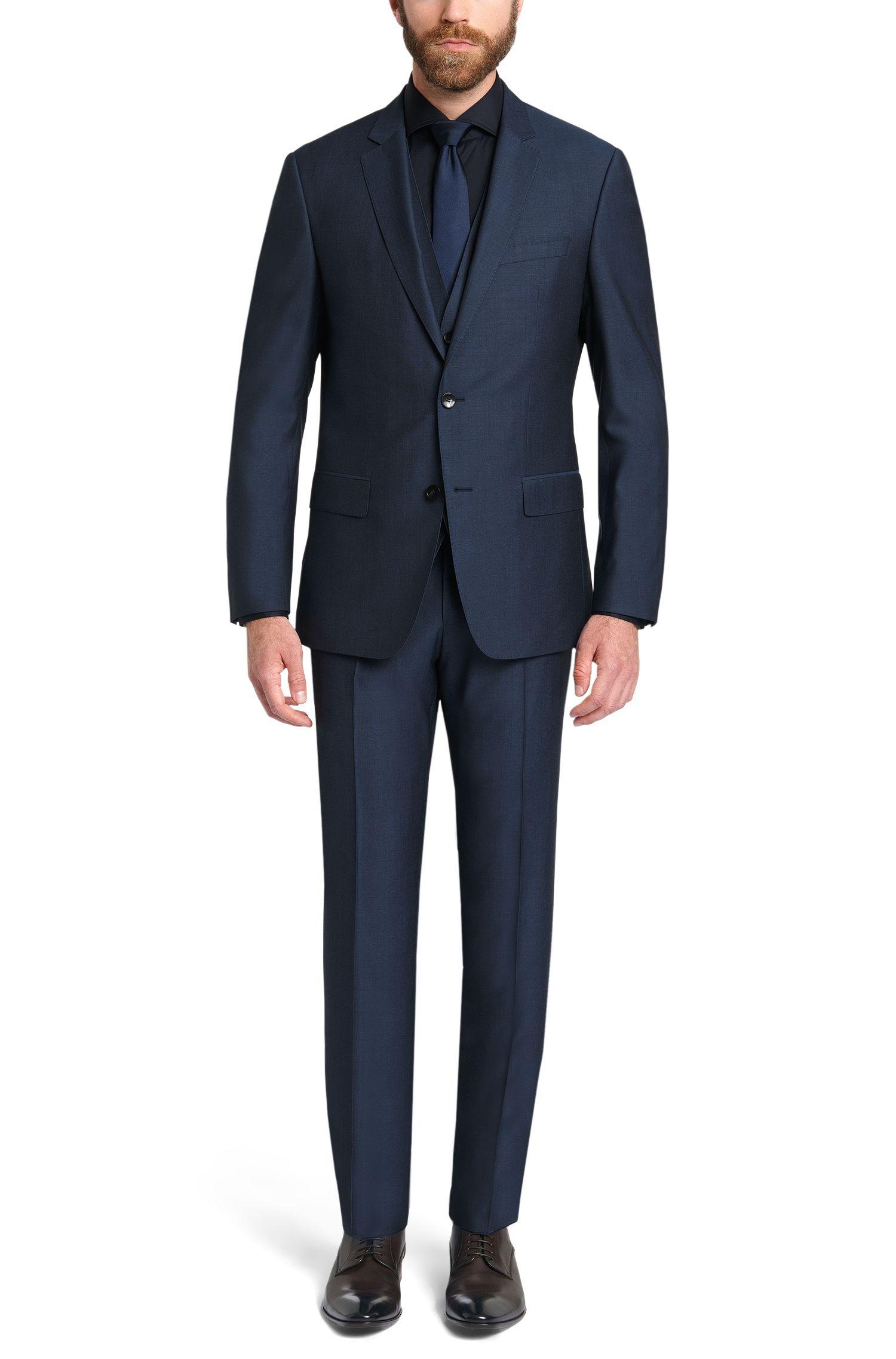 Driedelig, slim-fit kostuum van een scheerwolmix met zijde: 'Hevans/Gill WE'