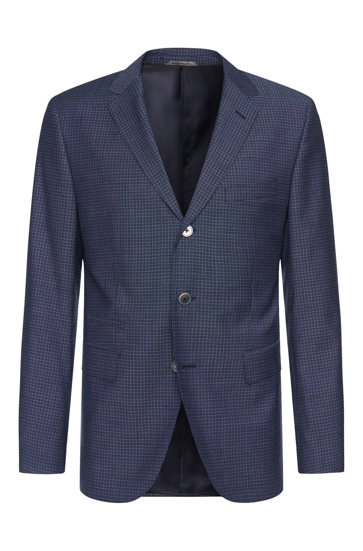 Regular-fit jacket in new wool with mother-of-pearl buttons: 'Johnstons3'