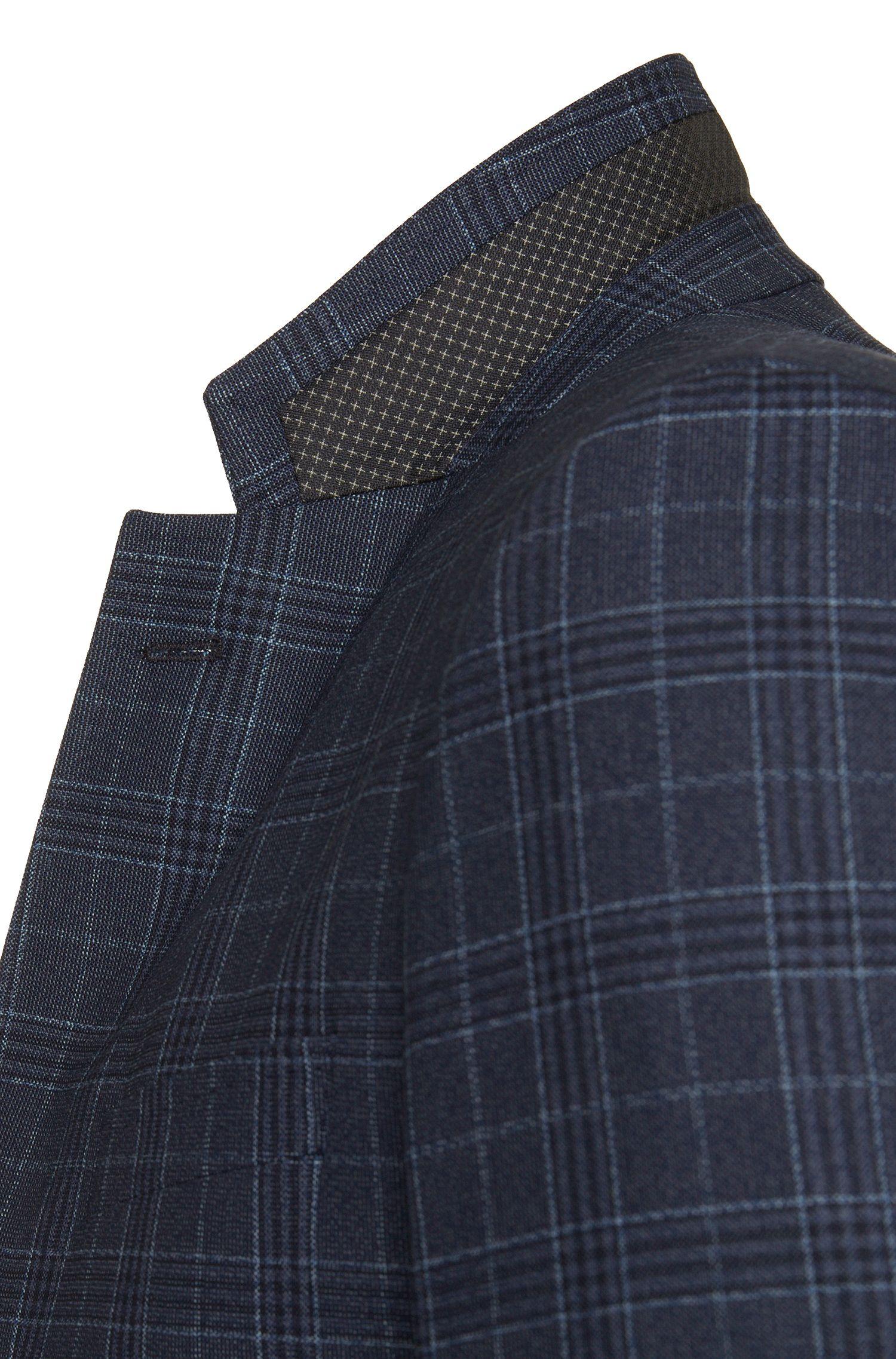 Veste de costume Slim Fit en laine vierge à carreaux: «Hutsons2»