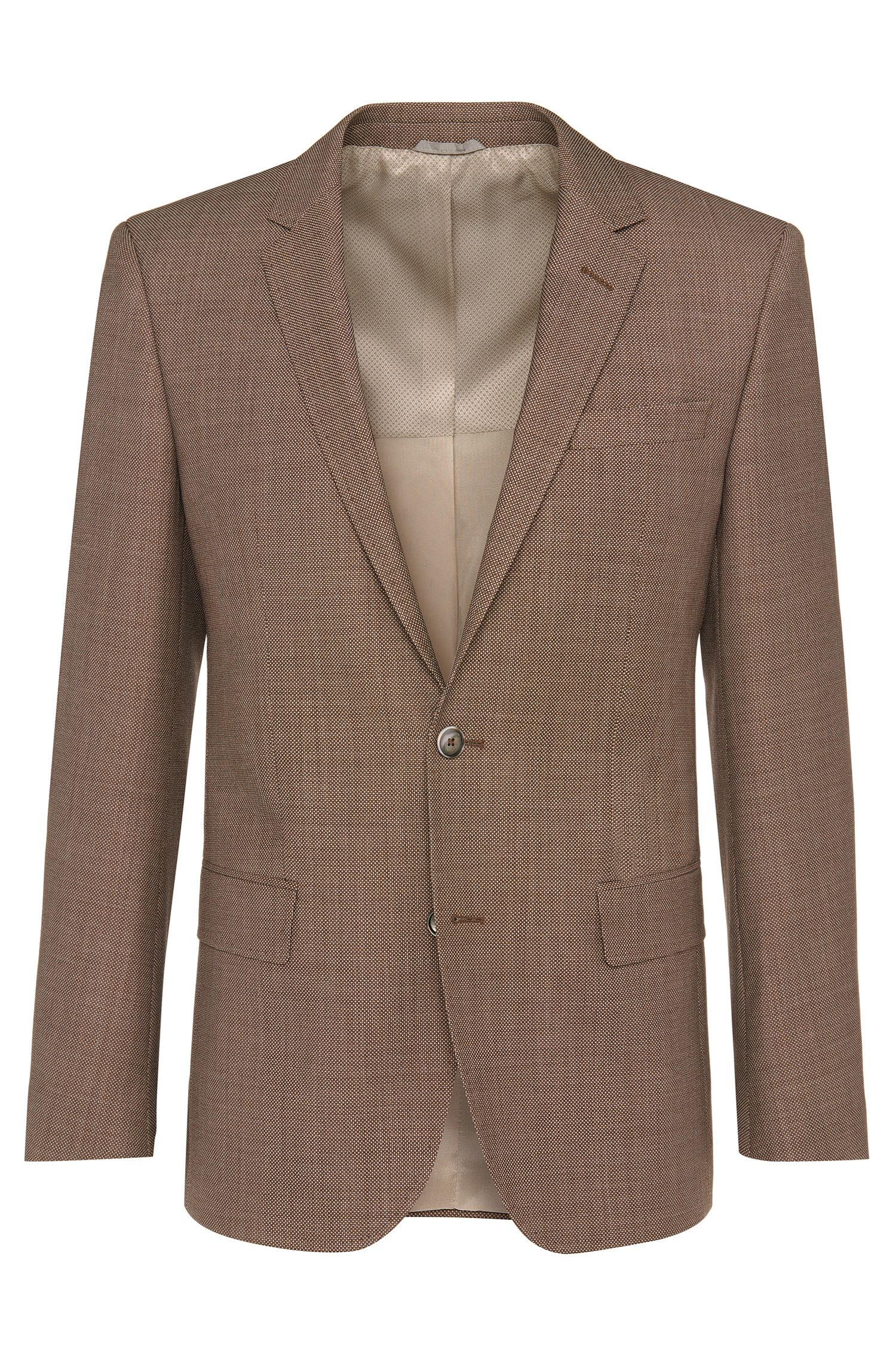 Slim-fit jacket in new wool: 'Hutsons2'