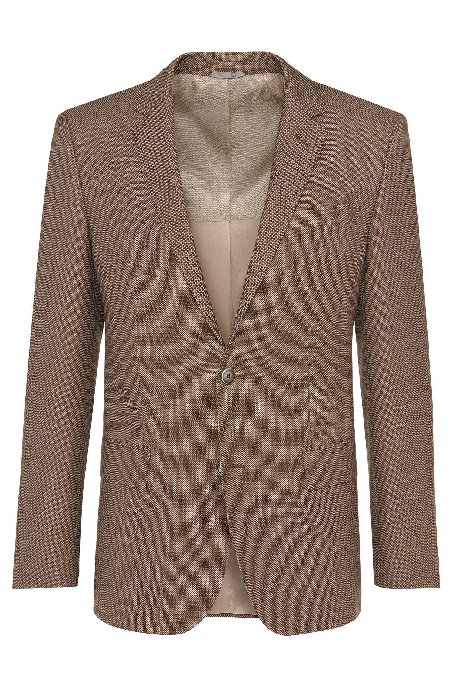 Veste de costume coupe Slim Fit en laine vierge: «Hutsons2»