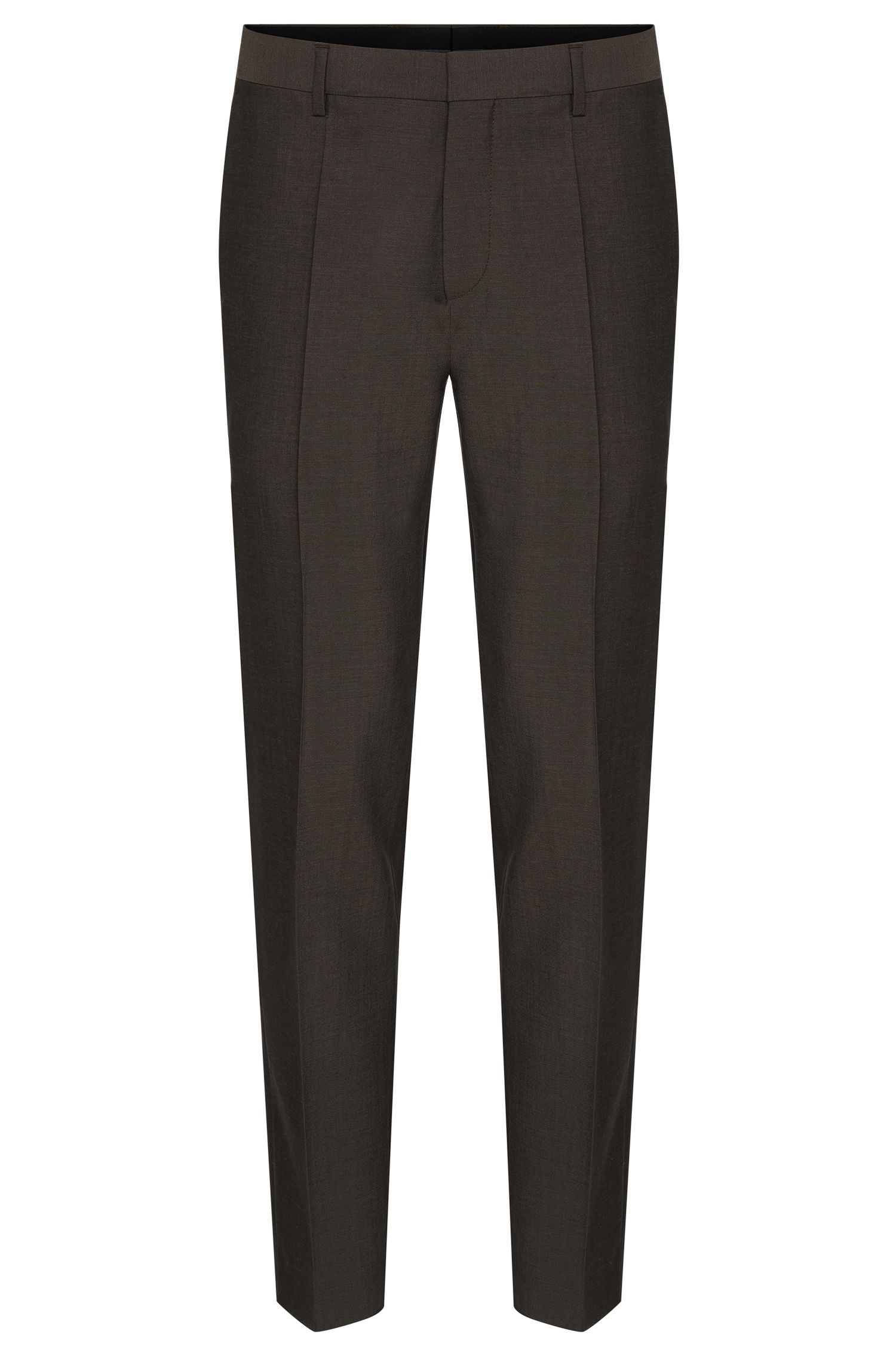 Slim-fit trousers in new wool: 'Genesis2'