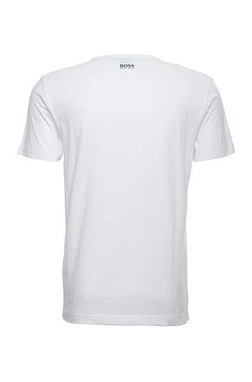 Lockeres Print-Shirt aus Baumwolljersey: ´Tee 3`, Weiß