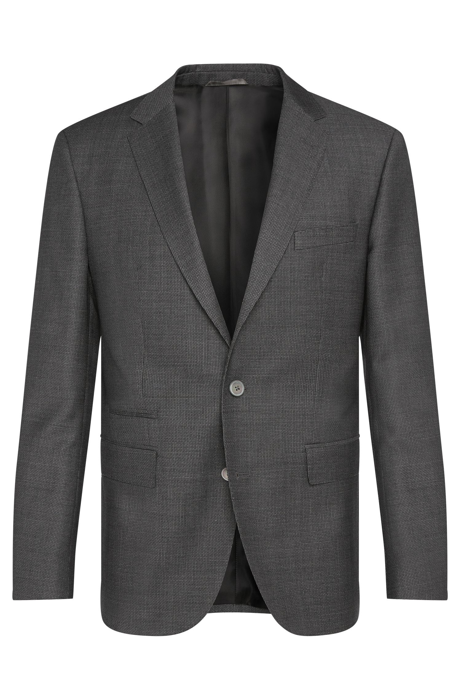 Regular-fit jacket in new wool with a ticket pocket: 'Johnston3'