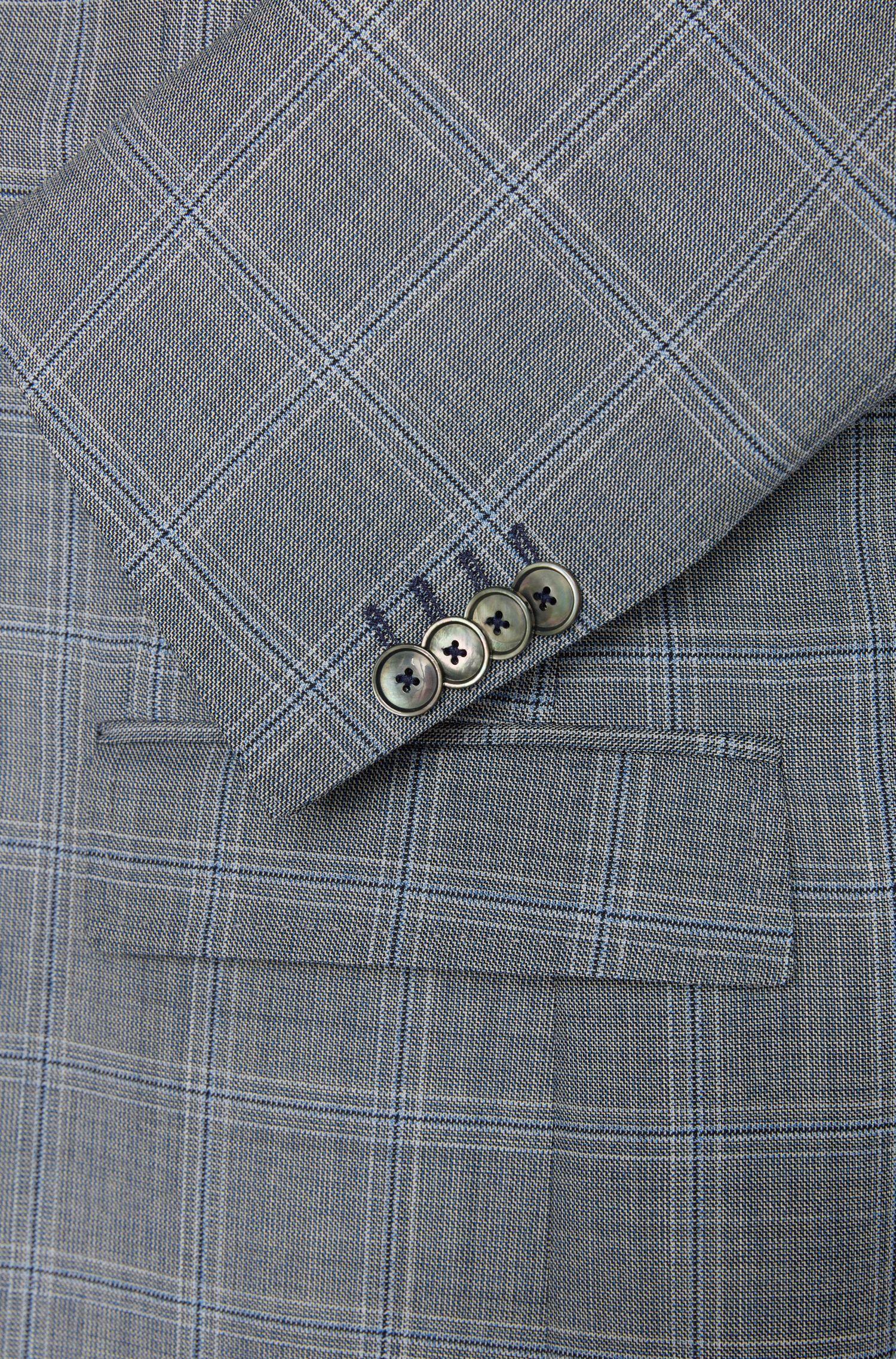Veste de costume Slim Fit en laine vierge à motif à carreaux: «Hutsons2»