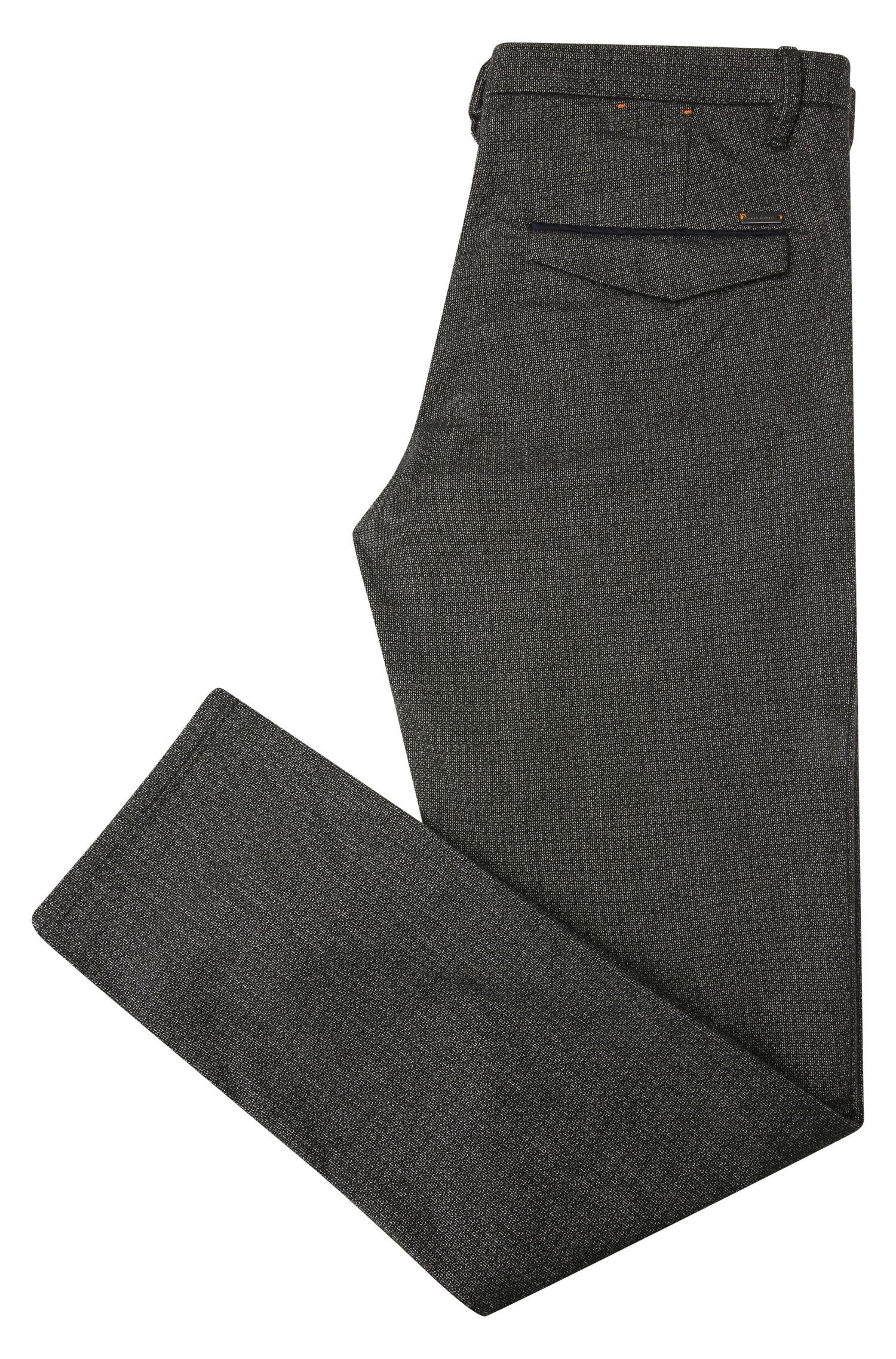 Slim-Fit Hose aus elastischem Baumwoll-Mix mit Viskose: ´Slim3-W`