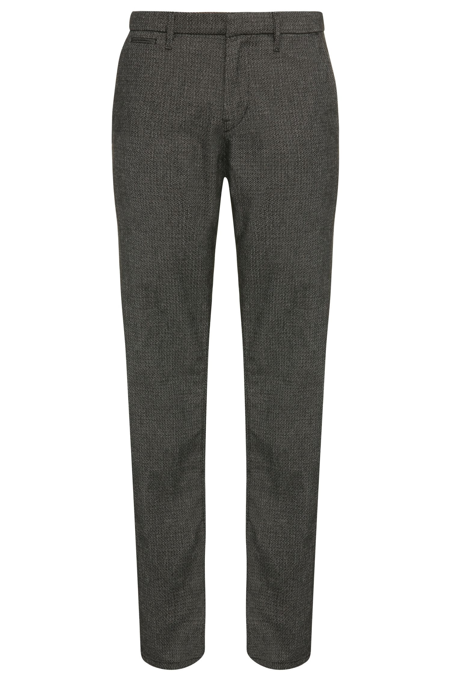 Slim-fit trousers in a stretchy cotton blend with viscose: 'Slim3-W'