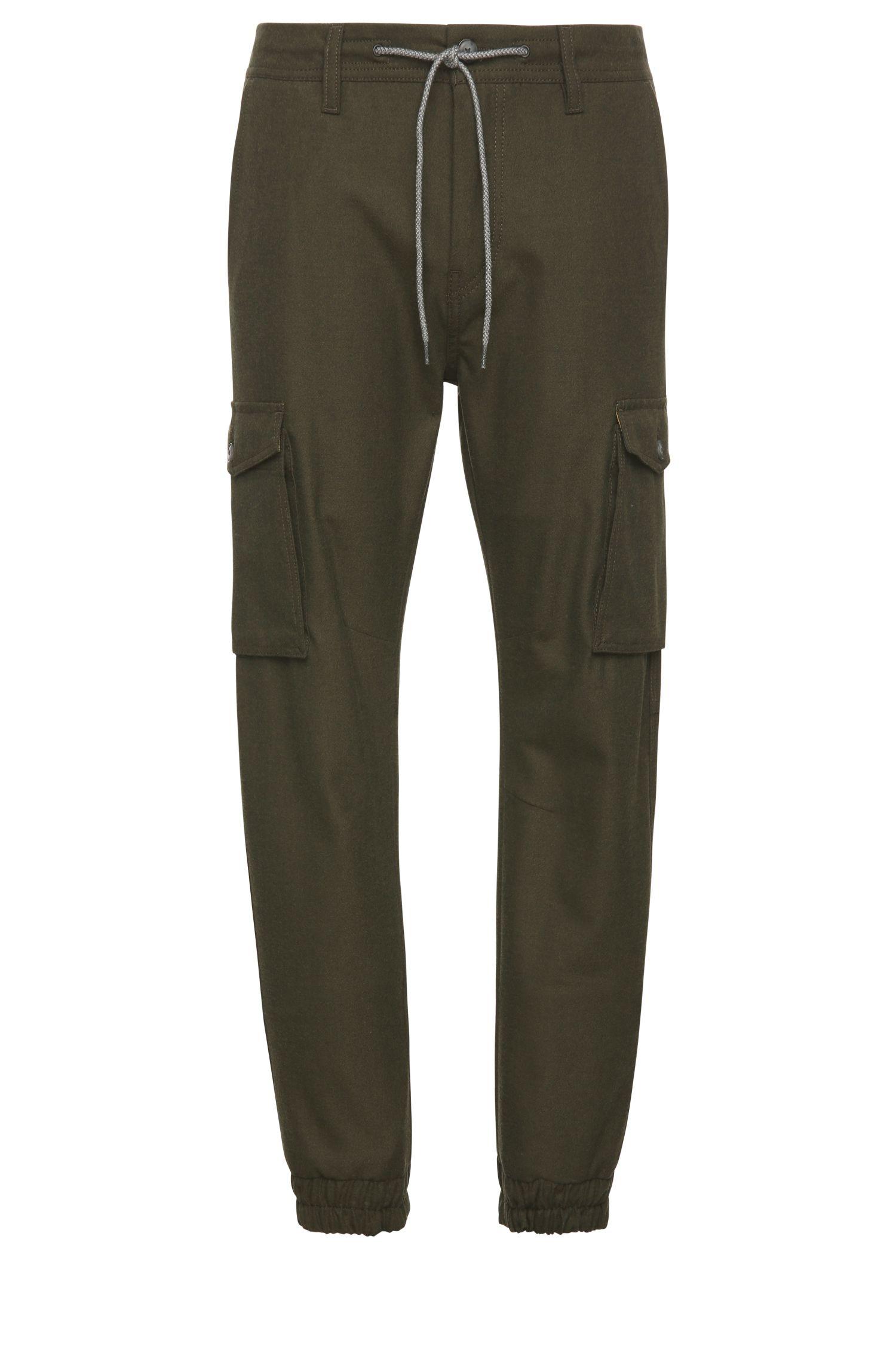 Pantaloni stile cargo tapered fit in materiale misto stretch con viscosa: 'Shay-W'