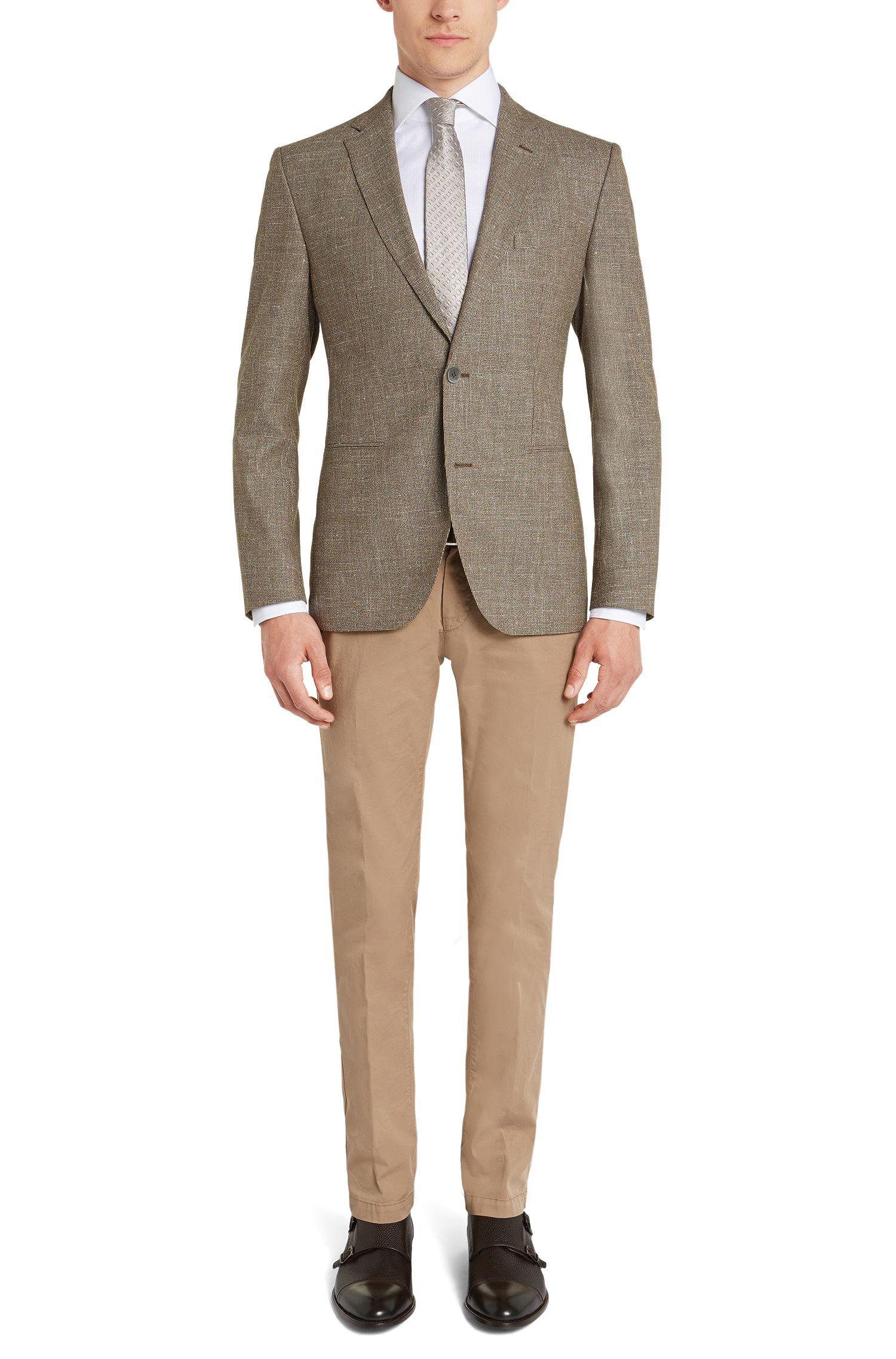 Veste de costume Regular Fit en laine vierge mélangée, avec du lin et de la soie: «Jorden»