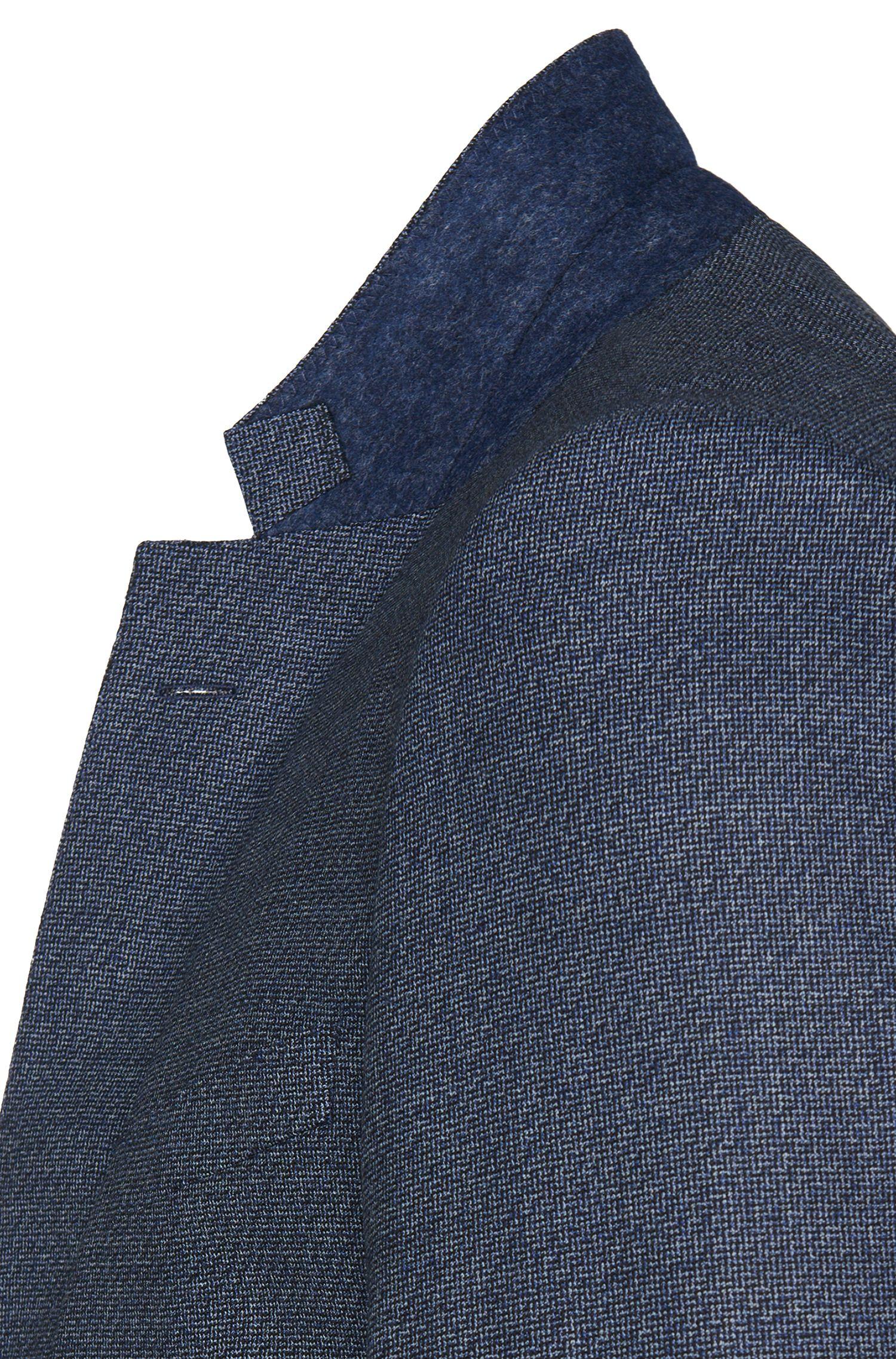 Veste de costume Slim Fit en laine vierge pourvue de fentes latérales: «T-Heel»