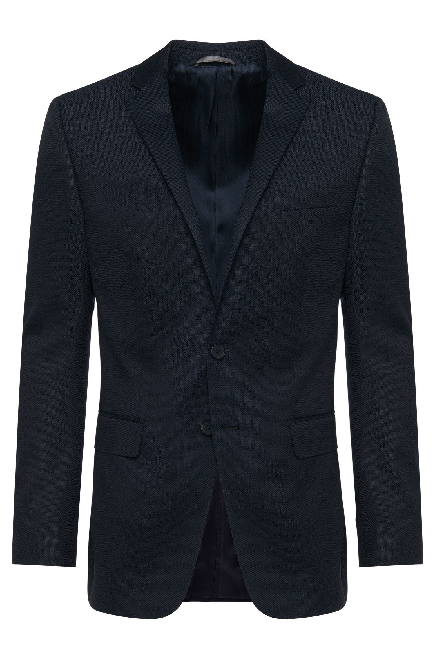 Slim-fit jacket in new wool with elbow patches: 'Nasley_1'