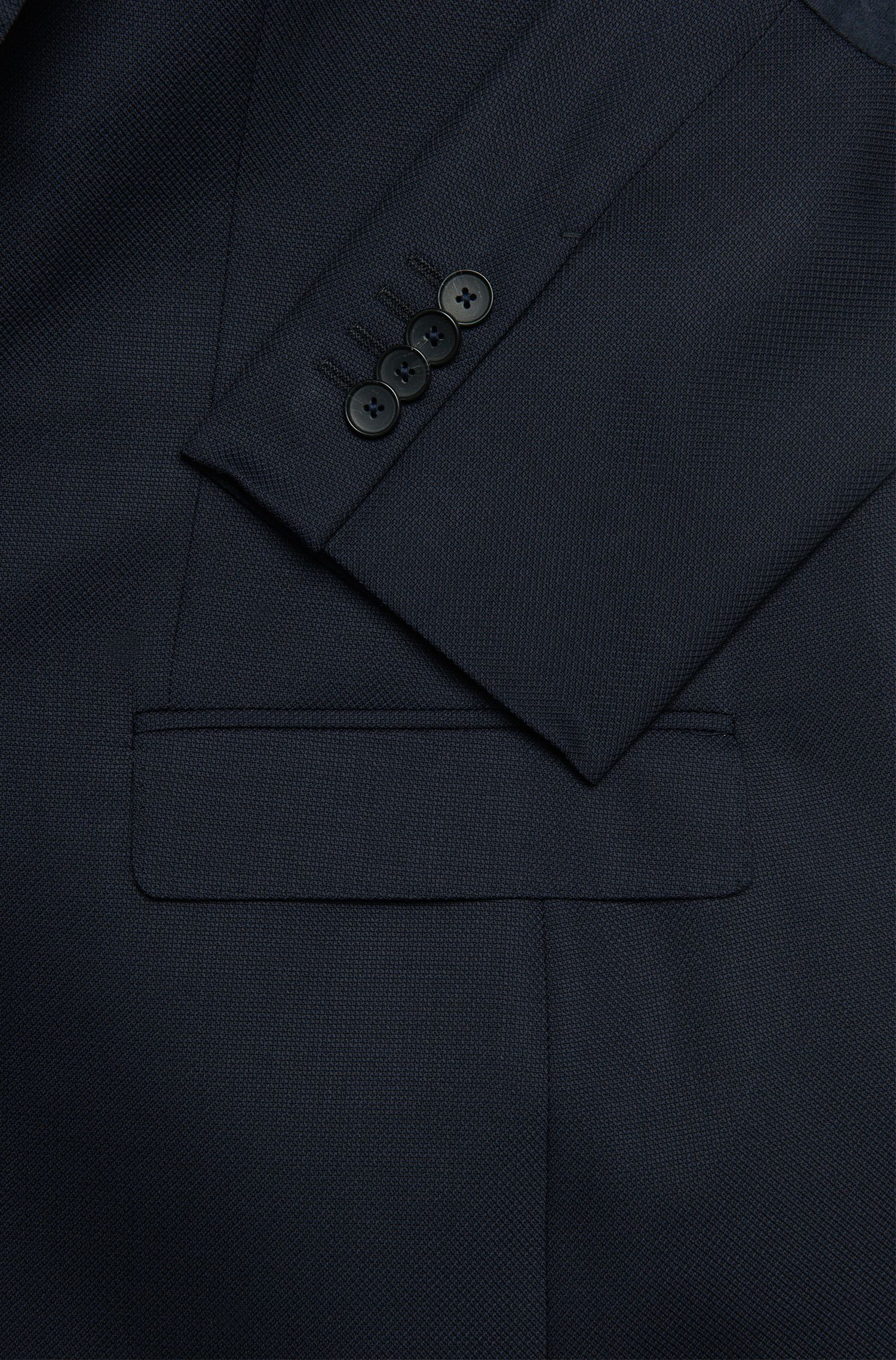 Veste de costume Slim Fit en laine vierge à coudières: «Nasley_1»