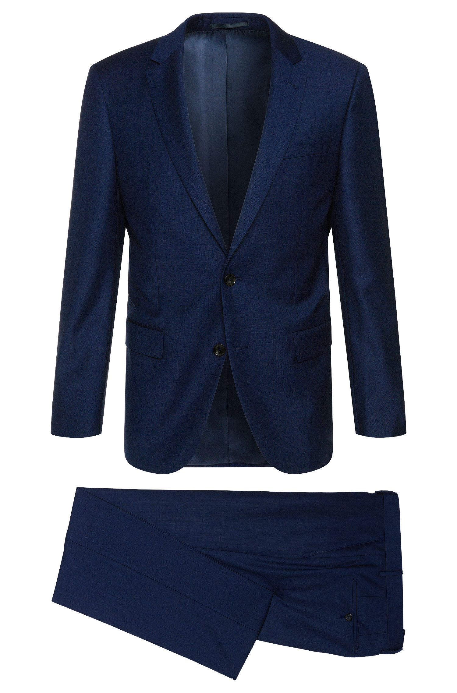 Slim-fit suit in fine new wool: 'T-Harvers1/Glover1'